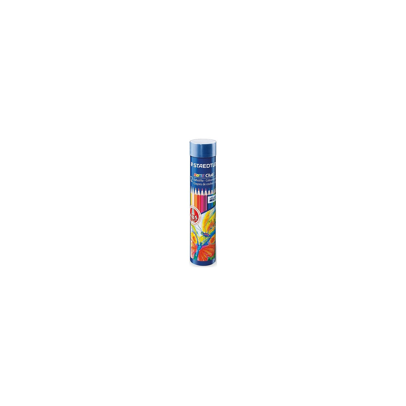 Цветные карандаши Noris Club, 12 цв.Рисование<br>Набор цветных карандашей Noris Club классической шестигранной формы. Металлическая коробка. Содержит 12 цветов. A-B-C - белое защитное покрытие для укрепления грифеля и для защиты от поломки. Очень мягкий и яркий грифель. При призводстве используется древесина сертифицированных и  специально подготовленных лесов.<br><br>Ширина мм: 40<br>Глубина мм: 40<br>Высота мм: 180<br>Вес г: 111<br>Возраст от месяцев: 36<br>Возраст до месяцев: 192<br>Пол: Унисекс<br>Возраст: Детский<br>SKU: 2031237
