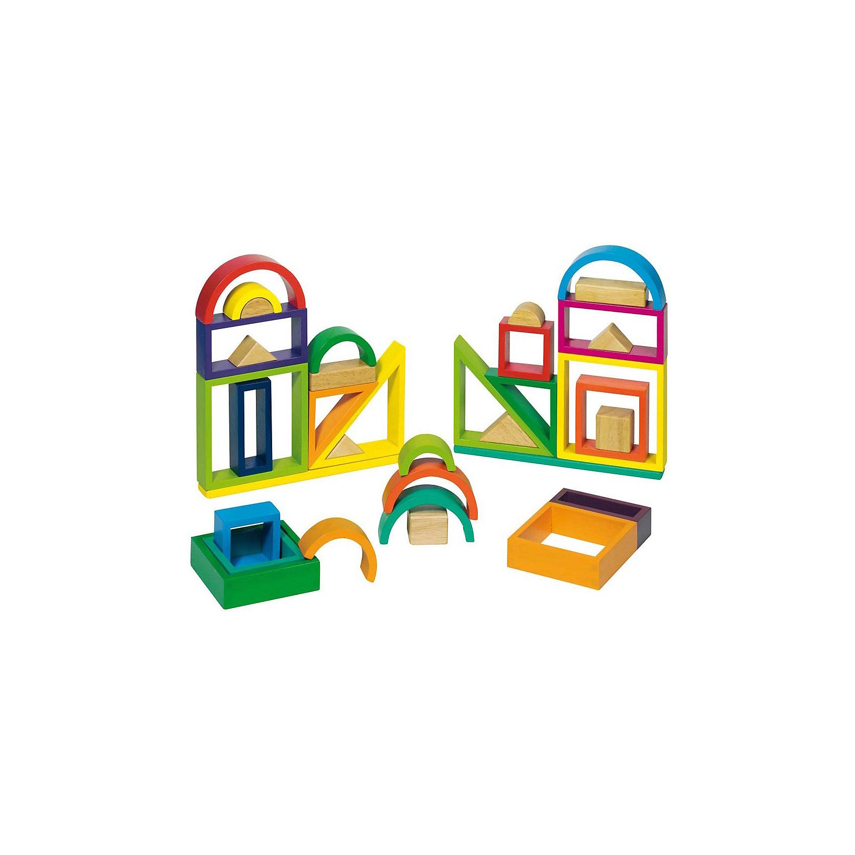 Строительные кубики Рамки Радужные GOKIКонструктор для построения разнообразных красочных зданий и сооружений. Набор выполнен из натурального дерева, раскрашен нетоксичными красками на водной основе. Прекрасно развивает мелкую и крупную моторику, цветовосприятие, знакомит малыша с геометрическими фигурами. Набор выполнен из натурального дерева. Раскрашен нетоксичными красками на водной основе. <br><br>Дополнительная информация:<br><br>- 38 элементов.<br>- Материал: дерево.<br>- Размер: 19,5 х 29,5 см.<br>- Цвет: красный, желтый, зеленый, голубой, синий, оранжевый.<br><br>Строительные кубики Рамки Радужные GOKI (Гоки) можно купить в нашем магазине.<br><br>Ширина мм: 343<br>Глубина мм: 263<br>Высота мм: 40<br>Вес г: 1820<br>Возраст от месяцев: 24<br>Возраст до месяцев: 72<br>Пол: Унисекс<br>Возраст: Детский<br>SKU: 2031291