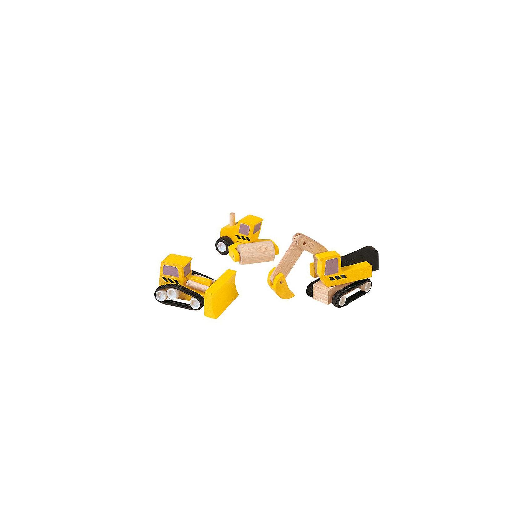 PLAN TOYS 6014 Дорожная техникаЭтот набор дорожной техники идеально дополняет набор строительной техники от PlanToys® (в который входят самосвал, кран и погрузчик). Машинки идеально развивают фантазию и творческие способности малыша, когда он играет в маленького градостроителя.В комплекте: дорожный каток, экскаватор и бульдозер<br>      <br>    <br>    Размеры каждой игрушки: 14,2 x 3,8 x 4,8 см<br><br>Ширина мм: 119<br>Глубина мм: 127<br>Высота мм: 71<br>Вес г: 147<br>Возраст от месяцев: 36<br>Возраст до месяцев: 72<br>Пол: Мужской<br>Возраст: Детский<br>SKU: 2035263
