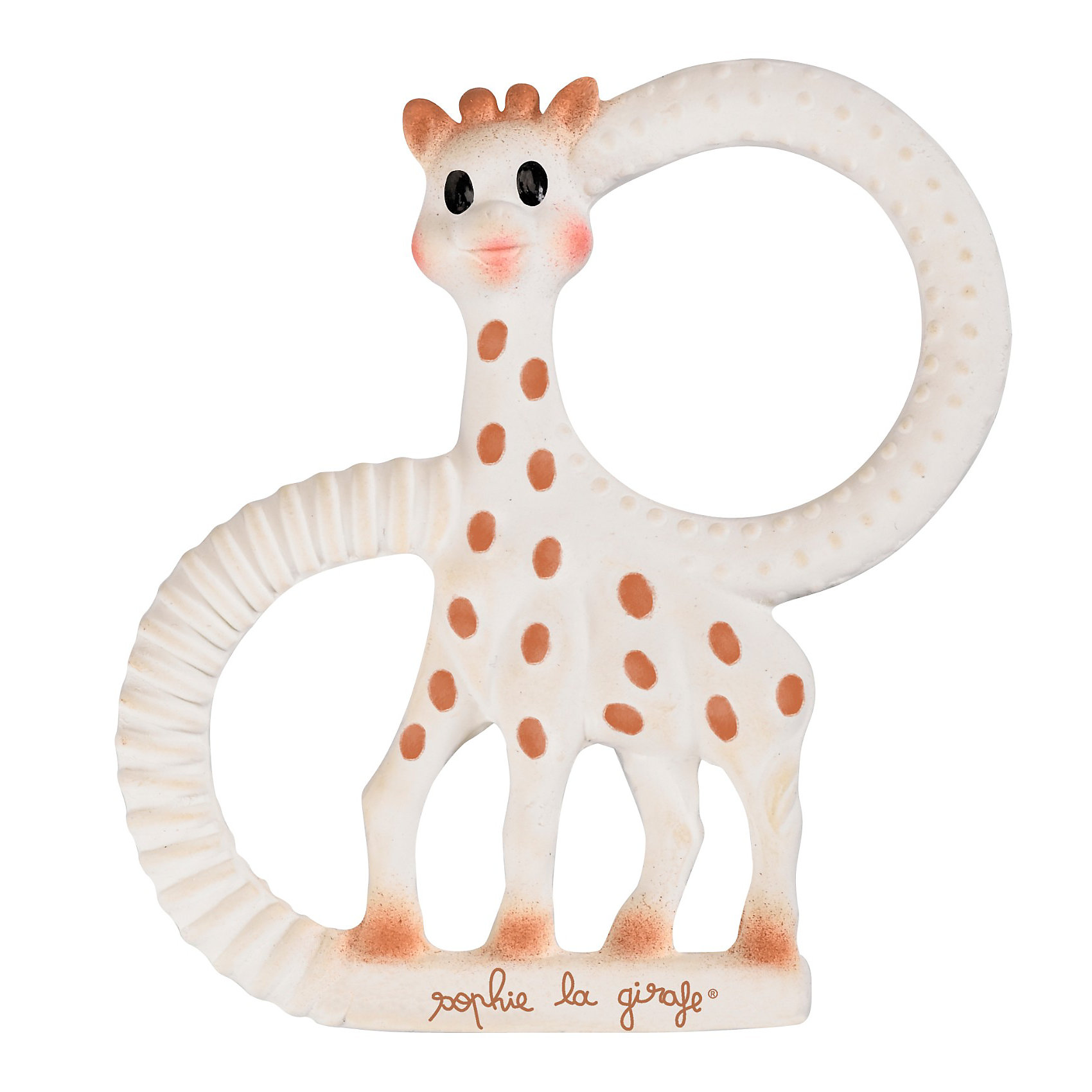 Прорезыватель Жирафик Софи, VulliПрорезыватели<br>Прорезыватель Жирафик Софи, Vulli (Вулли).<br><br>Характеристики:<br><br>• Материал: 100% натуральный каучук<br>• Размер: 12х10 см.<br><br>Миниатюрная версия Жирафика Софи – прекрасное дополнение к основной игрушке. Ребенок может держать прорезыватель двумя или одной рукой за специальные «ручки» по бокам. Форма и размеры ручек прорезывателя идеально подойдут для маленьких ладошек малыша. <br><br>Фактурные элементы жирафика и части, которые можно жевать (уши, рожки, ножки) помогут снять зуд с десен в период прорезывания зубов. Мягкая приятная на ощупь поверхность игрушки успокоит малыша. <br><br>Прорезыватель очень удобно брать с собой во время прогулок или путешествий. Он абсолютно безопасен для ребенка, при производстве используется только пищевая краска и 100% натуральный каучук. Игрушка способствует развитию осязания, обоняния, зрения, моторики и координации.<br><br>Прорезыватель Жирафик Софи, Vulli (Вулли) можно купить в нашем интернет-магазине.<br><br>Ширина мм: 158<br>Глубина мм: 137<br>Высота мм: 50<br>Вес г: 135<br>Возраст от месяцев: 0<br>Возраст до месяцев: 24<br>Пол: Унисекс<br>Возраст: Детский<br>SKU: 2064052