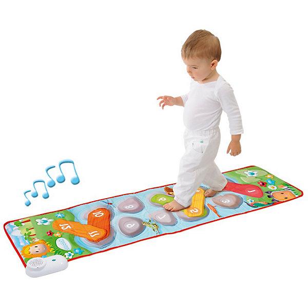Smoby Cotoons Электронный развивающий коврикРазвивающие коврики<br>Smoby Cotoons Электронный развивающий коврик - отличный подарок, который доставит немало удовольствия вашему ребенку!<br><br>Развивающий коврик Cotoons стимулирует двигательную активность детей. Для тех, кто делает свои первые шаги!<br><br>Когда ребенок наступает на коврик, раздаются веселые ободряющие голоса животных. <br>Коврик помогает развивать движения - ведь для того, чтобы коврик зазвучал, надо попадать на кнопки. <br>В будущем коврик поможет при изучении счета до 12.<br><br>Есть два варианта игры:<br><br>1) при нажатии на зеленый цветок каждый шаг малыша будет сопровождаться звуками животных, а также одобряющими, подбадривающими словами;<br>2) при нажатии на цветок с ноткой островки превращаются в нотки. Малыш будет идти будто по музыкальному инструменту.<br><br>Дополнительная информация:<br><br>- Звук можно отключать. <br>- Для работы необходимы 3 батарейки ААА (в комплект не входят).<br>-  2 вида музыкального сопровождения хождений:<br>  1. Звуки животных, 2. Музыкальные нотки<br>- Размеры упаковки - 42,5 * 5 * 37,5 см.<br>- Размер коврика: 140 * 35 см.<br>- Для работы понадобится 3 батарейки типа АА (в комплекте нет).<br><br>Этот яркий интерактивный музыкальный коврик наверняка заинтересует вашего ребенка, и он получит немало удовольствия,  проводя время за игрой!<br><br>Ширина мм: 50<br>Глубина мм: 420<br>Высота мм: 370<br>Вес г: 567<br>Возраст от месяцев: 12<br>Возраст до месяцев: 36<br>Пол: Унисекс<br>Возраст: Детский<br>SKU: 2073380