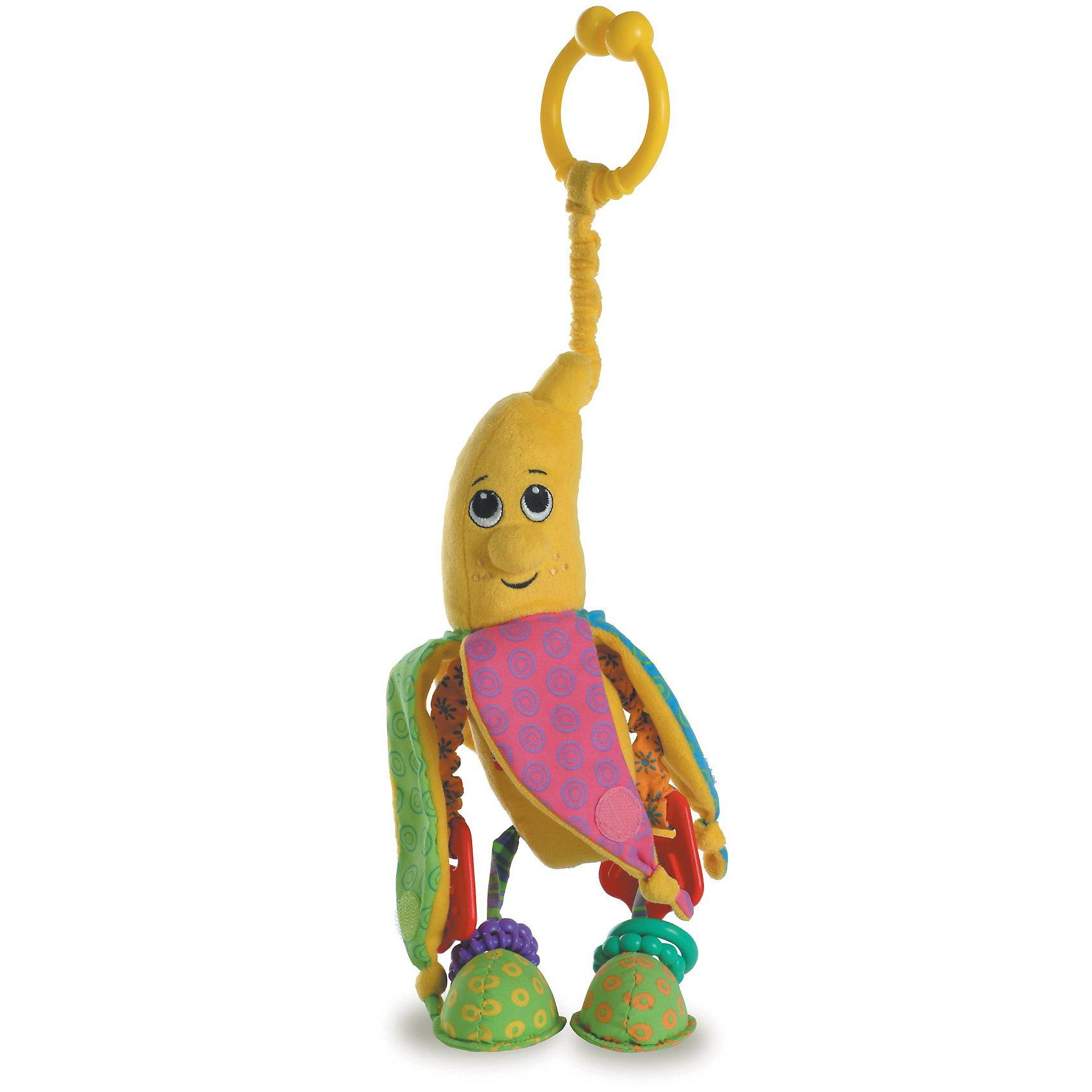 Развивающая игрушка Бананчик Анна, серия Друзья фрукты, Tiny LoveСерия Tiny Love (Тини Лав) «Друзья фрукты» - это чудесные игрушки, которые пробудят любопытство Вашего малыша и будут развивать его органы чувств. <br>Все игрушки этой серии снабжены кольцами-прищепками и таят в себе множество сюрпризов. <br>Яркий Бананчик Анну можно по-настоящему «чистить», у него ручки на пружинках, хрустящая поверхность, а ещё у него есть мягкое кольцо-прорезыватель, а на ножках с зеркальными подошвами - колечки-погремушки.<br><br>Размеры: 13*35*7 см.<br><br>Развивающую игрушку Бананчик Анна можно купить в нашем интернет магазине.<br><br>Ширина мм: 300<br>Глубина мм: 100<br>Высота мм: 90<br>Вес г: 170<br>Возраст от месяцев: 0<br>Возраст до месяцев: 24<br>Пол: Унисекс<br>Возраст: Детский<br>SKU: 2075063
