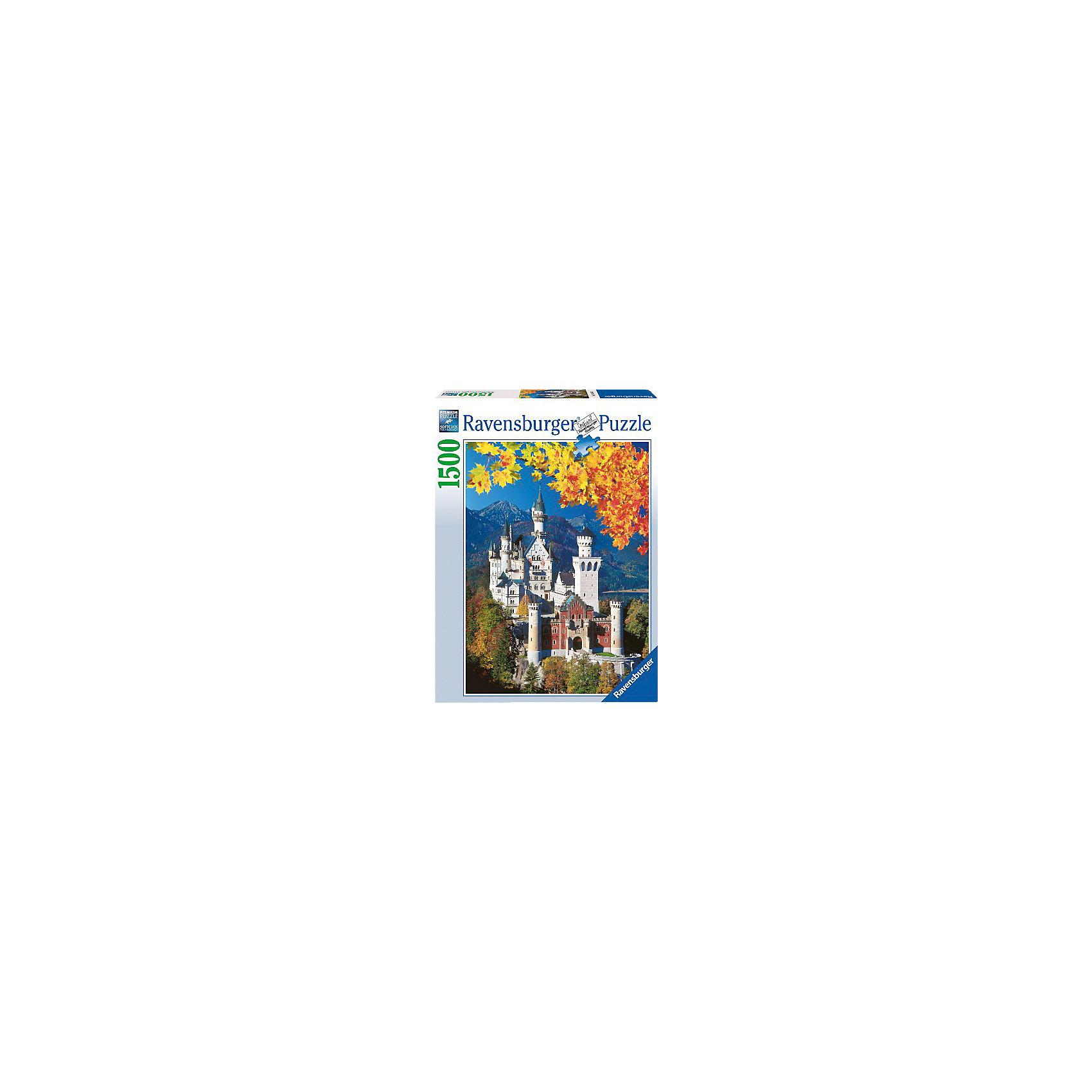 Пазл «Осенний Нойшвандеталейайн» 1500 деталей, RavensburgerСоединив все элементы Пазла «Осенний Нойшвандеталейайн» 1500 деталей, Ravensburger (Равенсбургер), Вы увидите красивую картину с видом всемирно известного дворца Нойшванштайн в Германии. На картинке этот один из самых красивых замков изображен на фоне осенней природы Альпийских гор. Готовое изображение станет оригинальным украшением комнаты!<br><br>Характеристики:<br>-Элементы идеально соединяются друг с другом, не отслаиваются с течением времени<br>-Высочайшее качество картона и полиграфии <br>-Матовая поверхность исключает отблески<br>-Развивает: память, мышление, внимательность, усидчивость, мелкая моторика, восприятие форм и цветов<br>-Занимательное времяпрепровождение для всей семьи<br>-Для сохранения в собранном виде можно использовать скотч или специальный клей для пазлов (в комплект не входит)<br><br>Дополнительная информация:<br>-Материал: плотный картон, бумага<br>-Размер собранного пазла: 60х80 см<br>-Размер упаковки: 37x5,5x27 см<br>-Вес упаковки: 1 кг<br><br>Чтобы собрать Пазл «Осенний Нойшвандеталейайн» понадобится несколько вечеров, но увлекательное занятие без сомнений понравится как детям, так и взрослым ценителям этого хобби! <br><br>Пазл «Осенний Нойшвандеталейайн» 1500 деталей, Ravensburger (Равенсбургер) можно купить в нашем магазине.<br><br>Ширина мм: 64<br>Глубина мм: 378<br>Высота мм: 274<br>Вес г: 1040<br>Возраст от месяцев: 144<br>Возраст до месяцев: 228<br>Пол: Унисекс<br>Возраст: Детский<br>Количество деталей: 1500<br>SKU: 2102643