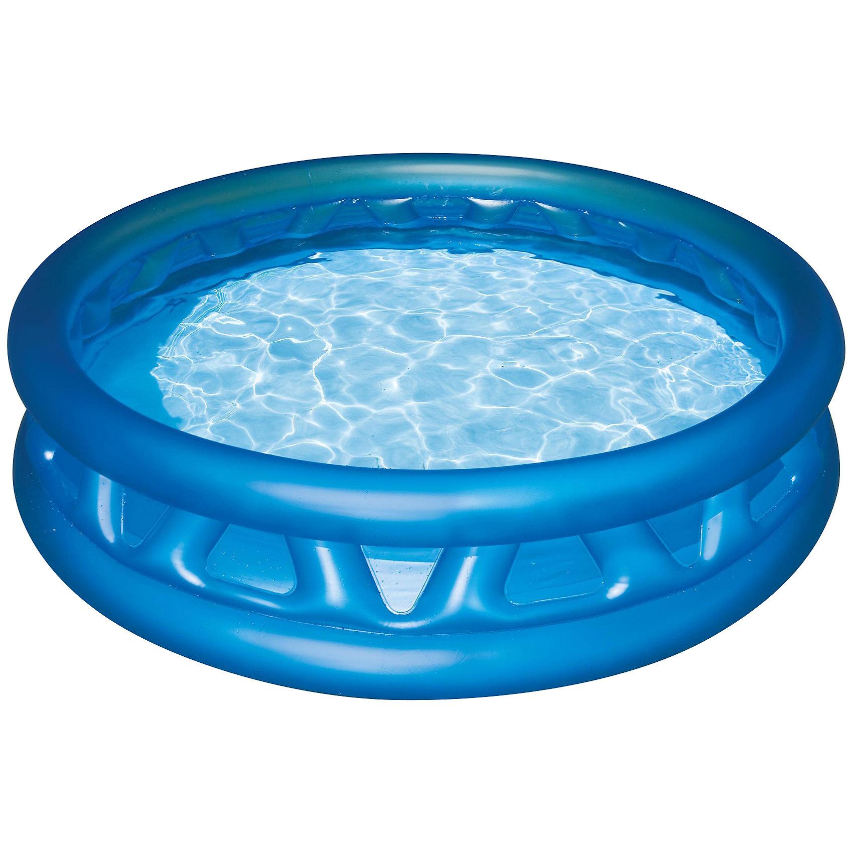 Детский надувной бассейн с мягкими стенками, IntexБассейны<br>Детский надувной бассейн с мягкими стенками, Intex (Интекс). Бортики  с мягкими ребрами обеспечат комфорт и безопасность ребенка. Бассейн имеет 3 независимые воздушные камеры с двойными клапанами, что обеспечивает безопасность в случае прокола. Он способен вместить в себя несколько малышей, которые смогут весело плескаться и играть друг с другом. <br><br>Не оставит равнодушным Вашего малыша!<br><br>Дополнительная информация:<br><br>- В комплекте: детский надувной бассейн с мягкими стенками, Intex, ремкомплект<br>- Размер бассейна: 188 x 46 см<br>- Объем (при 80% заполнении) 665 л.<br>- Глубина воды при указанном объеме: 36 см.<br>- Вес в упаковке 2,9 кг.<br>- Ненадувное дно<br><br>Детский надувной бассейн с мягкими стенками, Intex (Интекс) можно купить в нашем интернет-магазине.<br><br>Ширина мм: 361<br>Глубина мм: 304<br>Высота мм: 91<br>Вес г: 2721<br>Возраст от месяцев: 36<br>Возраст до месяцев: 1164<br>Пол: Унисекс<br>Возраст: Детский<br>SKU: 2106970