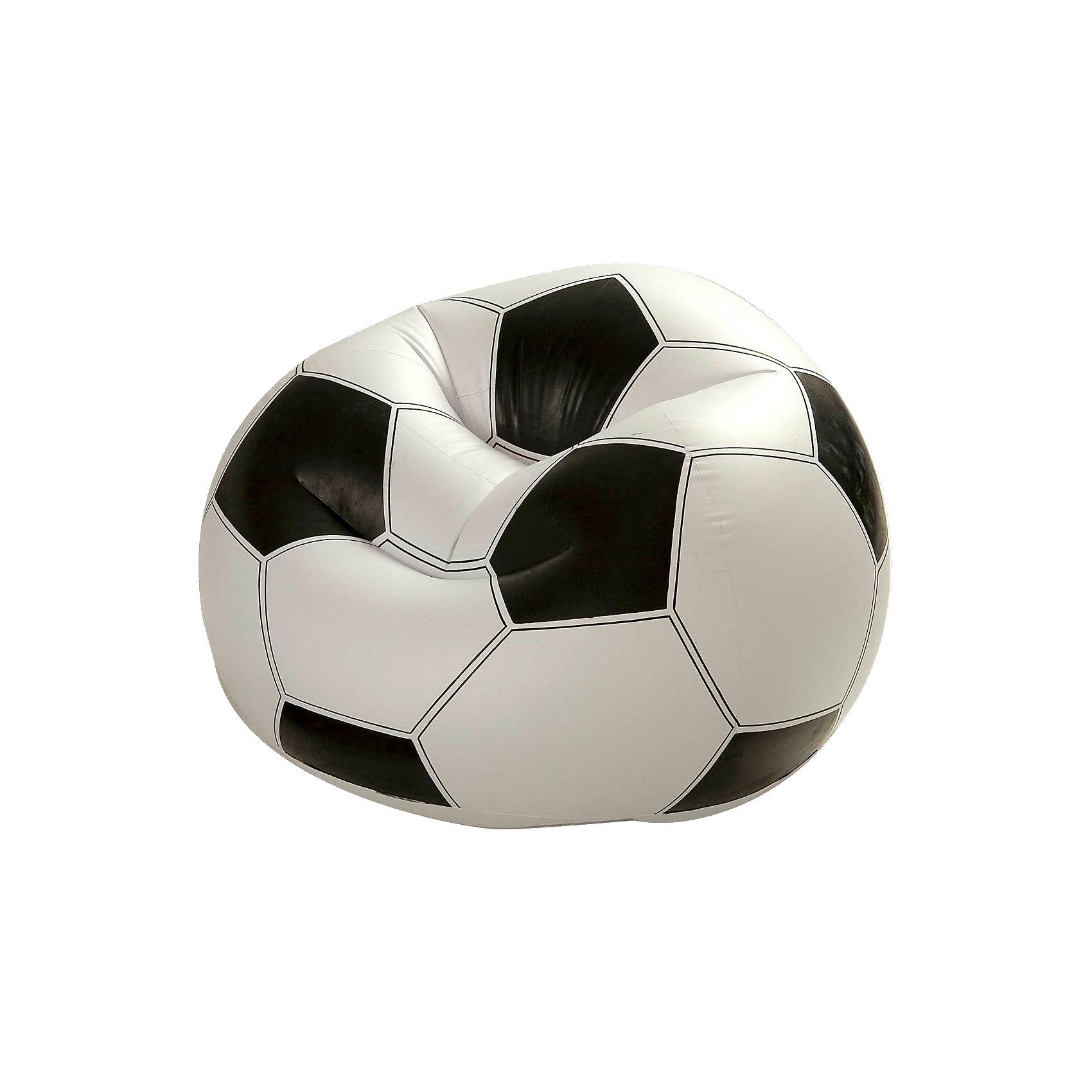 Надувное кресло Футбольный мяч, IntexНадувное кресло Футбольный мяч, Intex (Интекс) отличный подарок юному футбольному болельщику. Кресло изготовлено из прочного водоотталкивающего материала, легко выдерживает вес взрослого человека. Подкачивая или сдувая кресло можно регулировать его жесткость для оптимального комфорта, кресло принимает форму тела. Благодаря малому весу, кресло легко перемещать в нужное вам место.<br><br>Дополнительная информация:<br><br>- Размер: 108 x 110 x 66 см<br>- Максимальная нагрузка: 100 кг<br>- Поставляется в сдутом виде<br>- Накачивается обычным насосом (в комплект не входит)<br><br>Надувное кресло Футбольный мяч, Intex (Интекс) можно купить в нашем интернет-магазине.<br><br>Ширина мм: 309<br>Глубина мм: 271<br>Высота мм: 105<br>Вес г: 2194<br>Возраст от месяцев: 72<br>Возраст до месяцев: 1164<br>Пол: Мужской<br>Возраст: Детский<br>SKU: 2113725