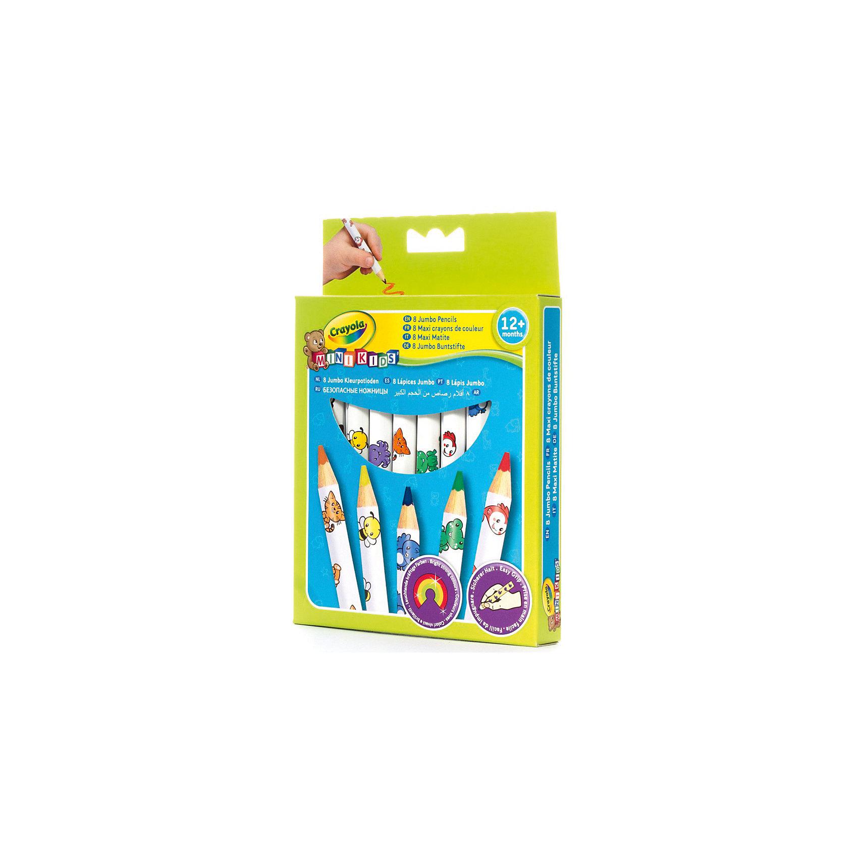 Набор толстых карандашей для малышей, 8 шт., CrayolaТворчество для малышей<br>Малышам сложно и не всегда интересно рисовать тонкими карандашами – это долго и неудобно, к тому же карандаш так и норовит выпасть из маленькой ручки. Этот набор разработан специально для самых юных художников – карандаши рисуют мягко, легко, и созданные ребенком шедевры долго не теряют цвет и яркость. Кроме того, этот набор безопасен для ребенка – за счет толщины малыш наверняка не проглотит карандаш и не засунет его себе случайно в нос или в ухо; к тому же все использованные в производстве красители не вызывают раздражений на коже.<br><br>Набор толстых карандашей для малышей, 8 шт., Crayola (Крайола) можно купить в нашем магазине.<br><br>Ширина мм: 176<br>Глубина мм: 129<br>Высота мм: 22<br>Вес г: 70<br>Возраст от месяцев: 12<br>Возраст до месяцев: 36<br>Пол: Унисекс<br>Возраст: Детский<br>SKU: 2127053