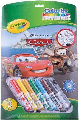 Раскраска по номерам Тачки , Crayola
