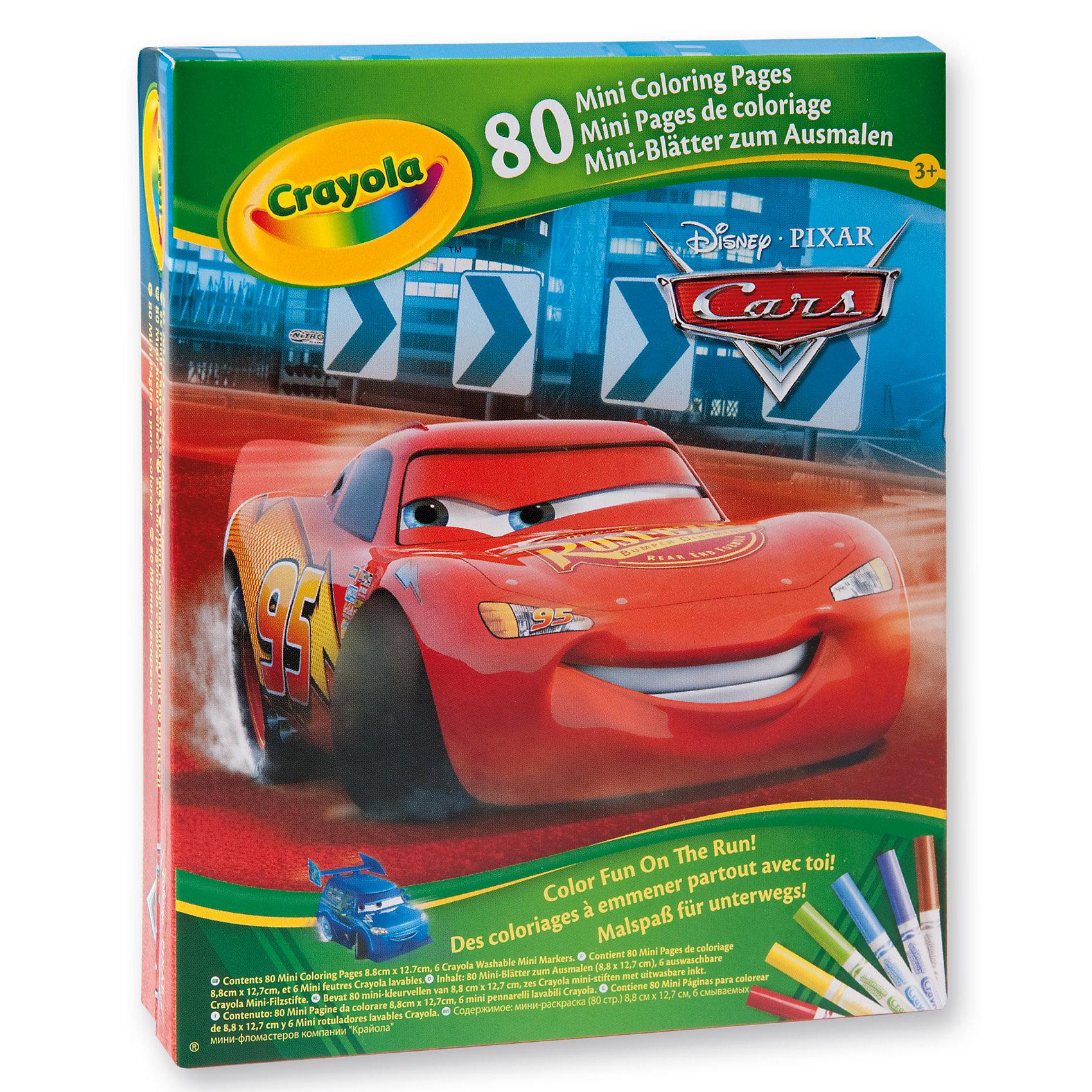 Crayola Мини-раскраска Тачки с фломастерамиРаскраски<br>Если ваш малыш с удовольствием занимается раскрашиванием картинок, мы можем предложить Вашему вниманию мини-раскраску «Тачки». <br>Благодаря небольшому формату и наличию твердой обложки ее удобно носить с собой повсюду. Ведь, для того, чтобы заняться рисованием с помощью мини-раскраски Crayola совершенно не обязательно  сидеть за столом, твердая обложка раскраска прекрасно его заменяет. К тому же  к ней прилагаются замечательные яркие фломастеры, которые так нравятся детям. <br>Мамы могут не опасаться, что их красочные цвета безнадежно испортят одежду малыша или обивку мебели, ведь фломастеры легко смываются с помощью теплой воды и мыла.<br><br>Компания Crayola прекрасно известна родителям малышей по всему миру. Продукция этой английской компания, поставляемая в 80 стран мира, пользуется заслуженным доверием своих потребителей. Ее отличительными чертами является высокое качество, удобство и абсолютная безопасность. Сегодня ассортимент продукции компании можно условно разделить на три основные группы: детская канцелярия серии Crayola Mini Kids, различные материалы для детского творчества серии Crayola, и специальные наборы для детского творчества, предназначенные для девочек в возрасте 8-12 лет серии Crayola Creations.<br><br>Ширина мм: 163<br>Глубина мм: 129<br>Высота мм: 27<br>Вес г: 142<br>Возраст от месяцев: 60<br>Возраст до месяцев: 96<br>Пол: Мужской<br>Возраст: Детский<br>SKU: 2127064