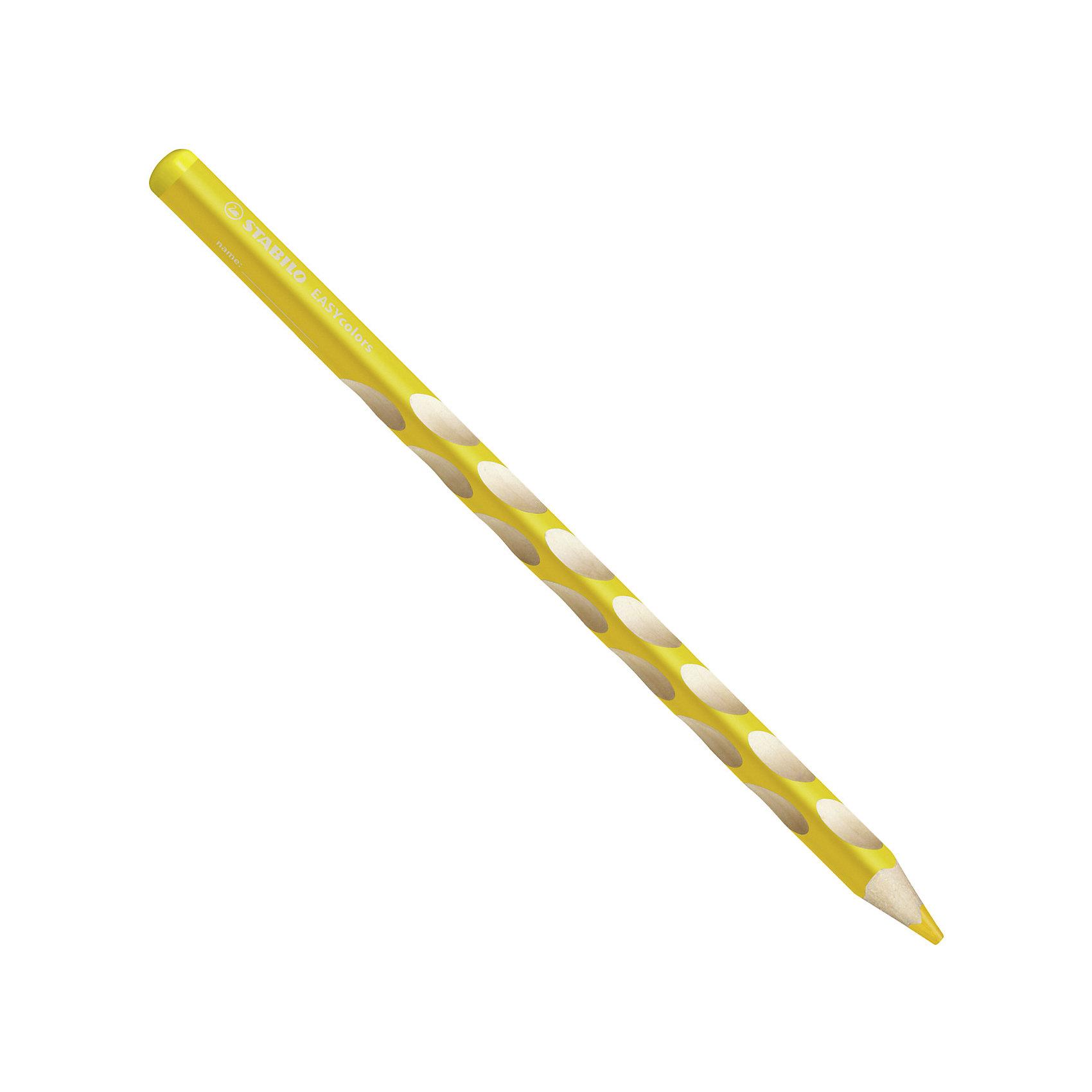 Набор цветных карандашей для левшей, STABILO EasyColors, 6 цв.Письменные принадлежности<br>Набор цветных карандашей для левшей, 6 цв., EASYCOLORS от марки Stabilo<br><br>Эти карандаши созданы немецкой компанией для комфортного и легкого рисования. Цвета яркие, линия мягкая и однородная. Будут долго держаться на бумаге и не выцветать. Рисование помогает детям развивать усидчивость, воображение, образное восприятие мира, а также мелкую моторику рук.  <br>Этот набор разработан специально для детей, осваивающих рисование и процесс письма. Он создан с учетом особенностей строения и развития руки ребенка. На деревянном карандаше сделаны специальные углубления, которые подсказывают детям правильное расположение пальцев на пишущем инструменте. <br>Даже после заточки карандашей они продолжают полноценно исполнять эту функцию. Форма этих предметов позволяет карандашам удобно ложиться в детской руке и не вызывать усталости мышц. Предназначены для левшей.<br><br>Особенности данной модели:<br><br>комплектация: 6 шт.<br><br>Набор цветных карандашей для левшей, 6 цв., EASYCOLORS можно купить в нашем магазине.<br><br>Ширина мм: 239<br>Глубина мм: 101<br>Высота мм: 18<br>Вес г: 84<br>Возраст от месяцев: 72<br>Возраст до месяцев: 192<br>Пол: Унисекс<br>Возраст: Детский<br>SKU: 2128524