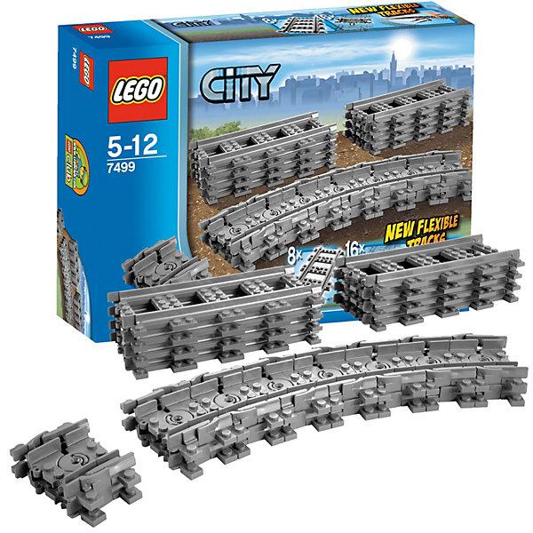 LEGO City 7499: Гибкие рельсыПластмассовые конструкторы<br>С гибкими рельсами от LEGO City (LEGO № 7499) препятствия можно просто объехать. <br><br>С помощью рельсов можно расширить железнодорожную систему так, чтобы препятствия и неудобные углы можно было просто объехать. Теперь каждый поезд доедет до пункта назначения! <br><br>Дополнительные информация: <br><br>- в набор входят 8 прямых рельсов и 16 гибких рельсов <br>- Артикул LEGO № 7499 <br>- Количество деталей LEGO: 24 <br>- Подходят к наборам LEGO 7938 и 7939. <br>- Рельсы не проводят электричество и потому не совместимы с поездами LEGO 9V.<br>- Размер упаковки (д/ш/в): 6,1 х 26,2 х 19,1 см. <br>- Серия: ЛЕГО Сити<br>Отличное дополнение для Вашей железной дороги!<br><br>Конструктор LEGO City 7499: Гибкие рельсы можно купить в нашем магазине.<br><br>Ширина мм: 267<br>Глубина мм: 190<br>Высота мм: 63<br>Вес г: 305<br>Возраст от месяцев: 60<br>Возраст до месяцев: 144<br>Пол: Мужской<br>Возраст: Детский<br>SKU: 2128652