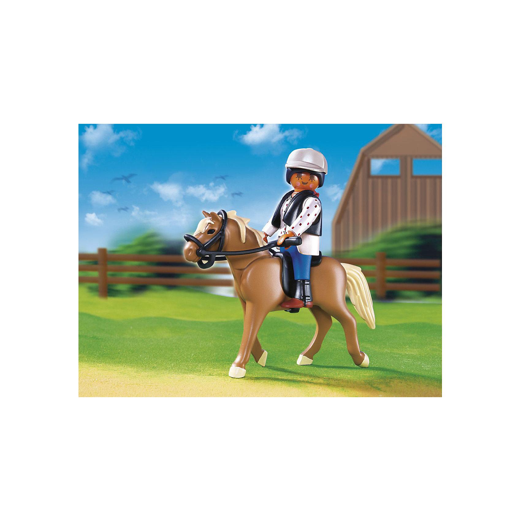 PLAYMOBIL® PLAYMOBIL 5109 Конный клуб: Лошадь Хафлингер со стойлом playmobil® playmobil 5546 парк развлечений продавец шаров smileyworld