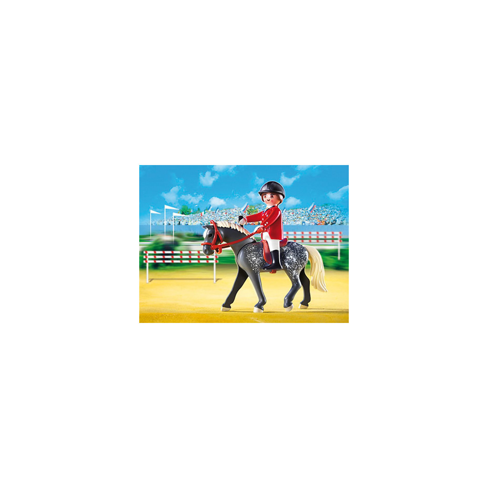 PLAYMOBIL® PLAYMOBIL 5110 Конный клуб: Трекерная лошадь со стойлом конный рыцарь в турнирном доспехе xvi век европа оловянная миниатюра авторская работа