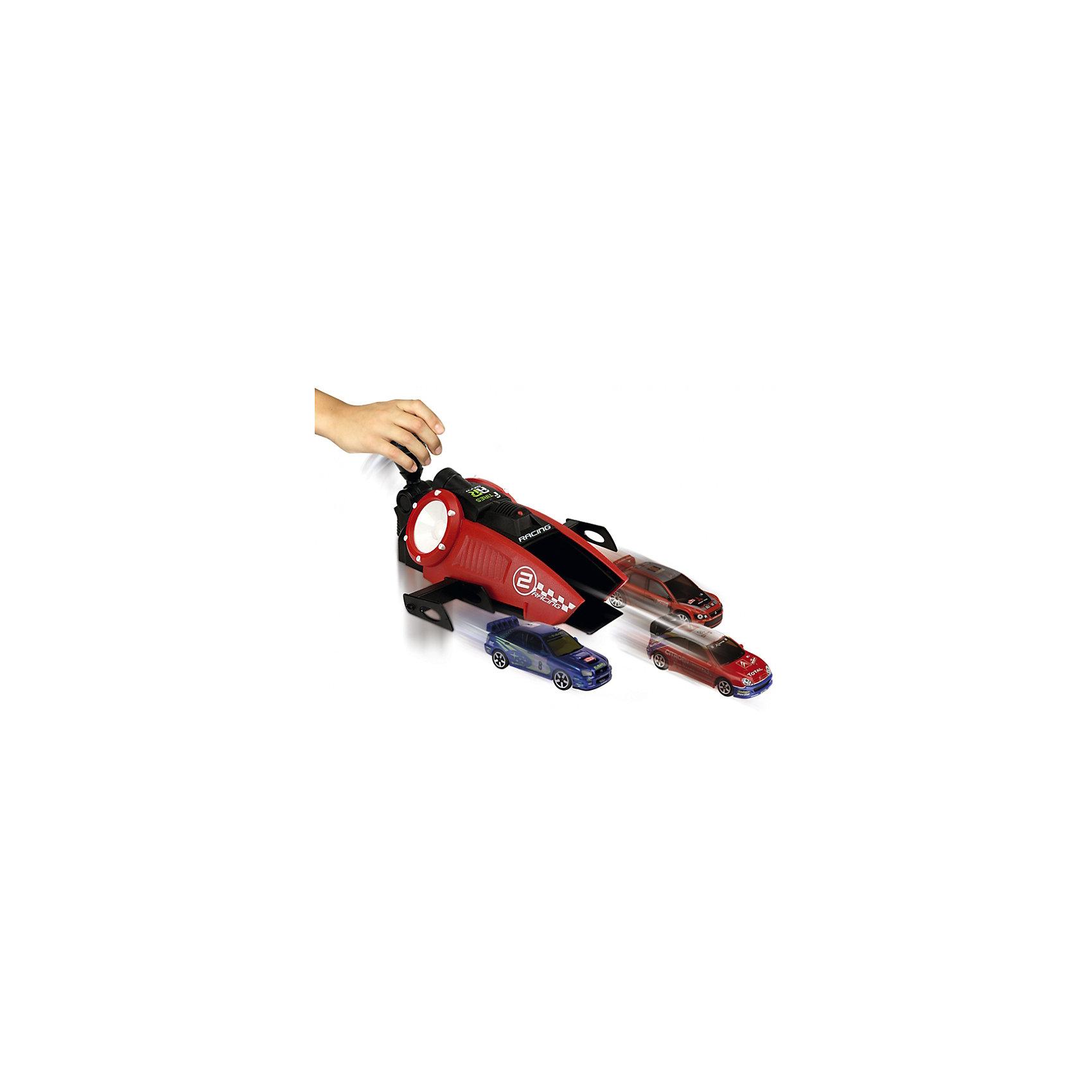 Турбо-ускоритель Рэйсинг + 3 машинки, 1:64, MajoretteИгровые наборы<br>Турбо-ускоритель Рэйсинг + 3 машинки, 1:64, Majorette (Мажоретте) - это прекрасный подарок маленькому любителю гонок.<br>С этим набором ребенок сможет устраивать гонки одновременно с тремя автомобилями. В комплекте малыш получит 3 миниатюрные модели известных гоночных автомобилей и прибор, который придаст ускорение этим машинкам. Один автомобильчик ставится в центральный паз, а два другие – по бокам на своеобразные крылья. Нажав на ручку, ребенок приводит в действие принцип рычага, и автомобили устремятся вперед с космической скоростью. Дизайн ускорителя порадует мальчишек, ведь и само устройство выглядит как гоночный автомобиль. Игра с машинками вырабатывает ловкость и слаженность движений, сноровку и координацию, развивает мелкую моторику пальцев рук и фантазию ребенка.<br><br>Дополнительная информация:<br><br>- В комплекте: турбо-ускоритель, 3 машинки<br>- Размер машинки: 7,5 х 2,5 х 3 см.<br>- Размер пускового устройства: 18 х 8 х 22 см.<br>- Масштаб: 1:64.<br>- Материал: высококачественный пластик, металл<br>- Размер упаковки: 26,5 х 10 х 26,2 см.<br><br>Турбо-ускоритель Рэйсинг + 3 машинки, 1:64, Majorette (Мажоретте) можно купить в нашем интернет-магазине.<br><br>Ширина мм: 265<br>Глубина мм: 262<br>Высота мм: 100<br>Вес г: 390<br>Возраст от месяцев: 36<br>Возраст до месяцев: 1164<br>Пол: Мужской<br>Возраст: Детский<br>SKU: 2144434