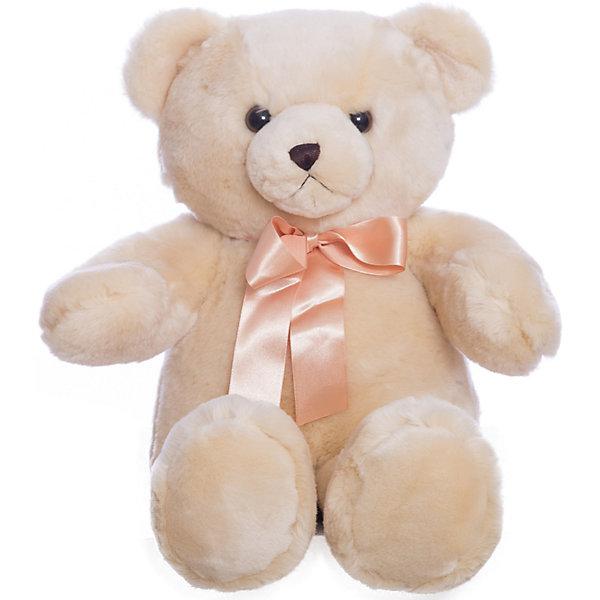 AURORA Мягкая игрушка Медведь, 56 смБольшие мягкие игрушки<br>Аврора: Медвежонок плюшевый кремового цвета с атласным бантом. Как дети, так и взрослые в восторге от смешных плюшевых медвежат! Мишка изготовлен из экологически чистых био-материалов:  плюш высшего качества и гипoaллepгeнный cинтепoн. Игрушка пригодна для машинной стирки, не теряет при этом внешний вид. Для детей от 3 лет.<br>Ширина мм: 200; Глубина мм: 240; Высота мм: 300; Вес г: 788; Возраст от месяцев: 24; Возраст до месяцев: 120; Пол: Унисекс; Возраст: Детский; SKU: 2147537;