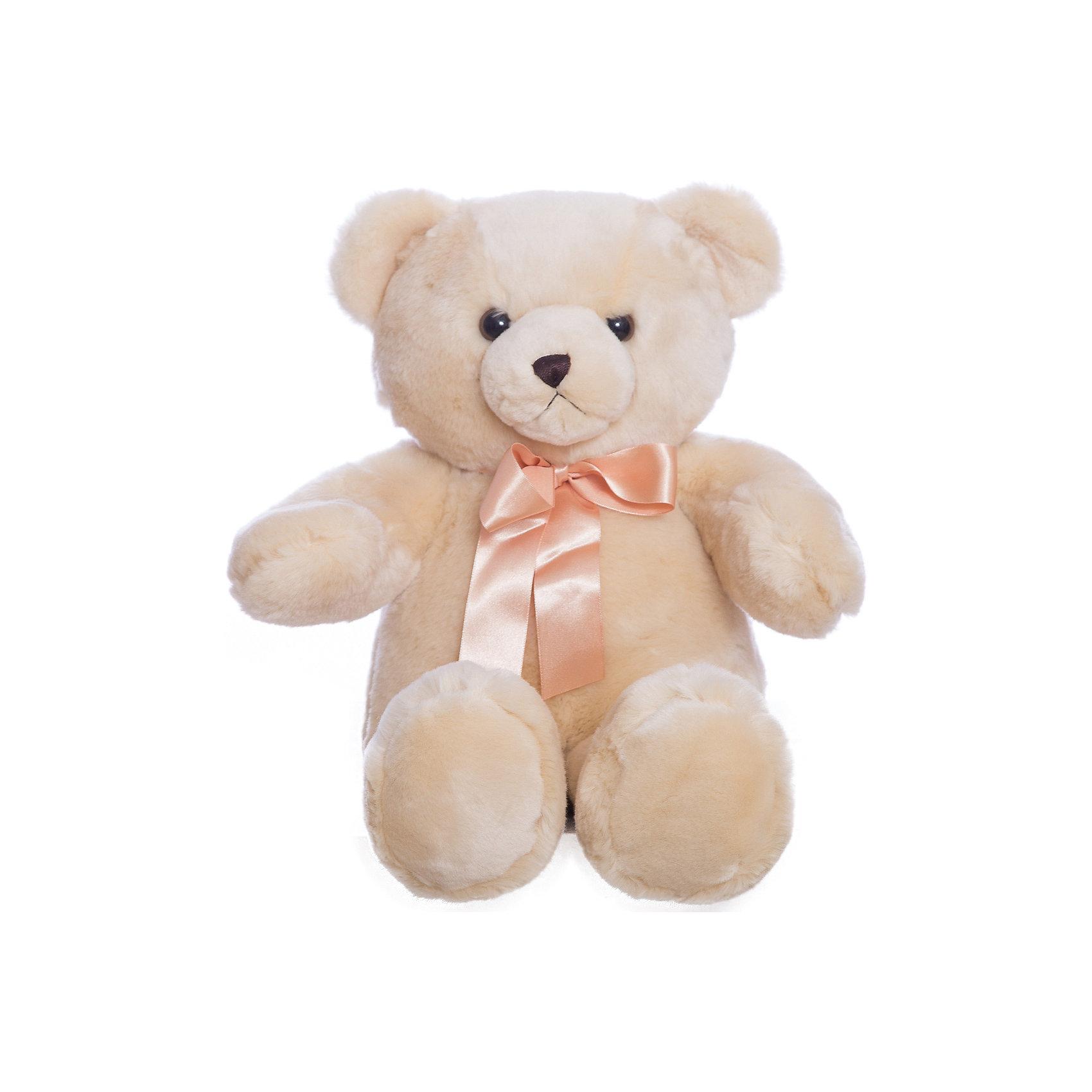 AURORA Мягкая игрушка Медведь, 56 смАврора: Медвежонок плюшевый кремового цвета с атласным бантом. Как дети, так и взрослые в восторге от смешных плюшевых медвежат! Мишка изготовлен из экологически чистых био-материалов:  плюш высшего качества и гипoaллepгeнный cинтепoн. Игрушка пригодна для машинной стирки, не теряет при этом внешний вид. Для детей от 3 лет.<br><br>Ширина мм: 200<br>Глубина мм: 240<br>Высота мм: 300<br>Вес г: 788<br>Возраст от месяцев: 24<br>Возраст до месяцев: 120<br>Пол: Унисекс<br>Возраст: Детский<br>SKU: 2147537