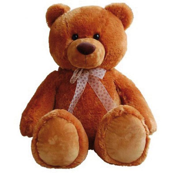 AURORA Мягкая игрушка Медведь сидячий (коричневый), 80 смБольшие мягкие игрушки<br>Мягкая игрушка Аврора - медведь сидячий (коричневый), 80 см.<br><br>Добрый, мягкий, большой плюшевый медведь, с которым так приятно обниматься. На шейке у медведя полупрозрачный коричневый бантик.<br><br>Игрушка изготовлена из экологически чистых материалов: высококачественного плюшa и гипoaллepгeнного cинтепoна.<br><br>Дополнительная информация:<br><br>- Игрушка пригодна для машинной стирки, не теряет при этом внешний вид.<br>- Материалы:  плюш и гипoaллepгeнный cинтепoн.<br>- Размеры – 0.37 х 0.25 х 0.8 м<br><br>Прекрасная игрушка для вашего ребенка!<br><br>Ширина мм: 450<br>Глубина мм: 240<br>Высота мм: 210<br>Вес г: 1187<br>Возраст от месяцев: 24<br>Возраст до месяцев: 120<br>Пол: Унисекс<br>Возраст: Детский<br>SKU: 2147600