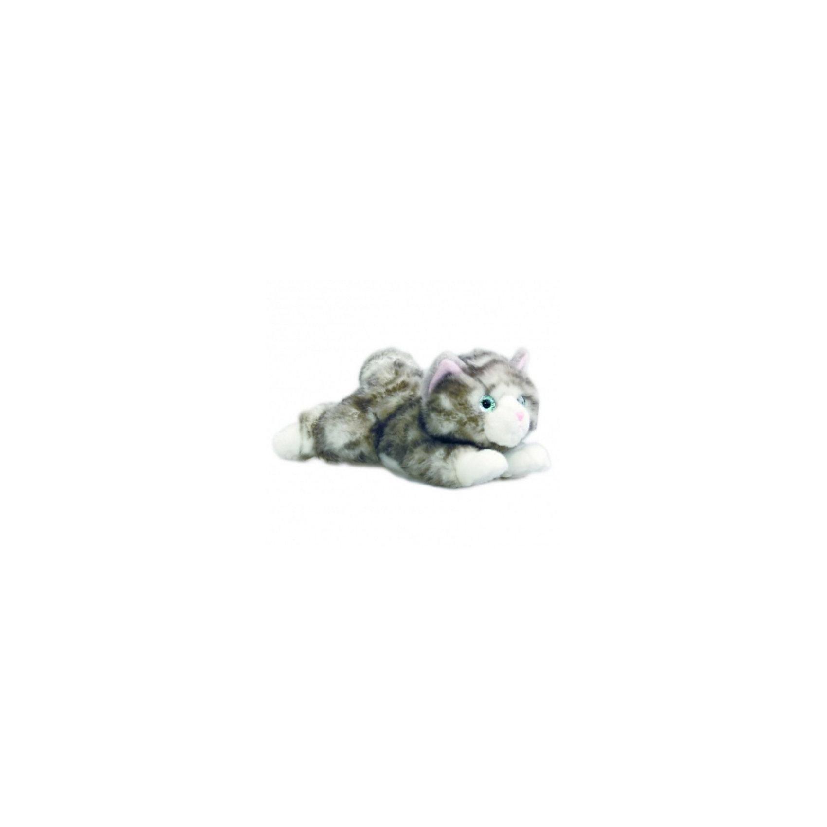 AURORA Мягкая игрушка  Котенок серый, 22 смКошки и собаки<br>AURORA Мягкая игрушка  Котенок серый, 22 см  -  симпатичный серый котенок с розовыми ушками и носиком и  голубыми глазками. <br>Лежит и ждет, чтобы с ним поиграли.<br><br>Котенок изготовлен из экологически чистых био-материалов: плюш высшего качества и гипoaллepгeнный cинтепoн. <br>Высокий уровень детализации, натуральные цвета, приятные на ощупь ткани и полное отсутсвие запахов - это отличительные черты всех без исключения игрушек Аврора. <br><br>Дополнительная информация:<br><br>- Игрушка пригодна для машинной стирки, не теряет при этом внешний вид.<br>- Материалы: плюш и гипoaллepгeнный cинтепoн.<br>- Размер - 22 см.<br><br>Этот  котенок от Aurora наверняка понравится вашему ребенку, и станет для него отличным сюрпризом!<br><br>Ширина мм: 210<br>Глубина мм: 100<br>Высота мм: 100<br>Вес г: 176<br>Возраст от месяцев: 24<br>Возраст до месяцев: 120<br>Пол: Унисекс<br>Возраст: Детский<br>SKU: 2147618