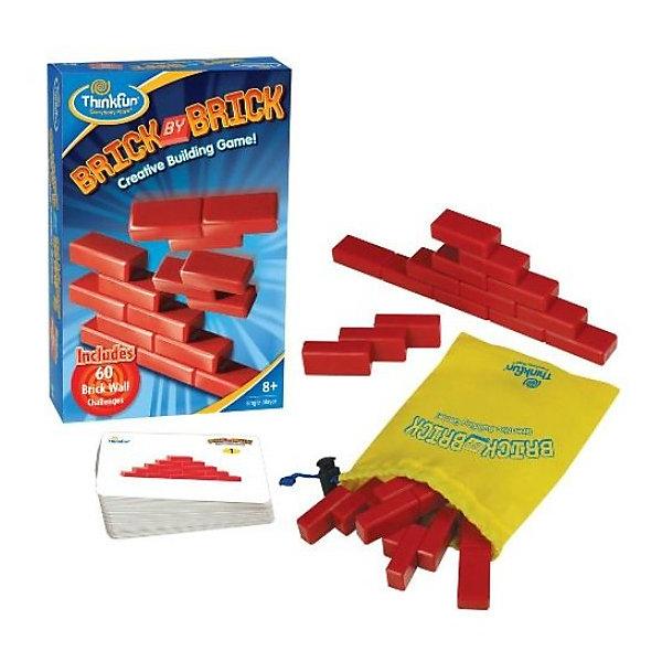 Игра Кирпичики Brick by brick, ThinkfunГоловоломки - игры<br>Настольная игра-головоломка Кирпичики (Brick by brick).<br><br>Игра состоит из нескольких слепленных вместе пластиковых кирпичиков, которые надо собрать в заданную фигуру, например, в пирамиду (1-й уровень сложности). Вообще, в игре-головоломке «Кирпичики» 60 заданий, и очень простые правила. Конечно же, на обороте карточек с заданиями можно подсмотреть решение, но лучше и интереснее решить всё самим. Совсем малышам можно показывать сначала решение, а потом просить самим собрать такую фигуру. Или, когда вы освоите все задания, можете поиграть в симметрию, то есть все сложенные фигуры должны быть симметричны.<br>Игра отлично развивает пространственное и логическое мышление! <br><br>Дополнительная информация:<br><br>В комплект входит: <br>- 60 карточек–заданий;<br>- кирпичики<br>- мешочек для хранения игровых принадлежностей<br><br>Игровой набор упакован в картонную коробку, размером 21 см. х 13, 5 см. х 4,5 см.<br><br>Настоящее удовольствие для Вас и Ваших детей!<br>Ширина мм: 203; Глубина мм: 45; Высота мм: 135; Вес г: 441; Возраст от месяцев: 72; Возраст до месяцев: 120; Пол: Унисекс; Возраст: Детский; SKU: 2148455;