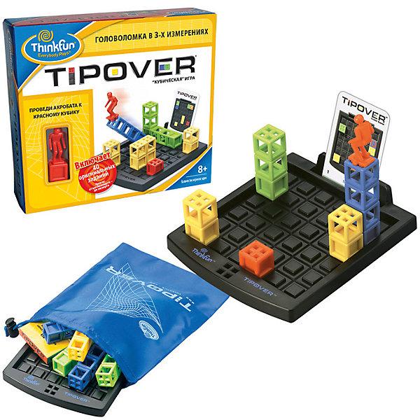 Кубическая головоломка Tipover, ThinkfunГоловоломки - игры<br>Серия игр-головоломок от компании ThinkFun была создана специально для развития умственного и творческого потенциала детей. Каждая игра этой компании рассчитана на разные уровни подготовки и развития, что позволяет вновь и вновь бросать вызов себе, постепенно усложняя задания. <br>Цель кубической головоломки Tipover – помочь Акробату добраться до красного кубика. <br>Ход игры – сначала необходимо расставить кубики в соответствии с рисунком на взятой из колоды карточке заданий. Далее передвигать Акробата, опрокидывая башни вперед, назад, вправо или влево (так, чтобы пустоты в башнях совмещались с выпуклостями на игровом поле). Акробат может опрокидывать башни и перемещаться по ним, но не может перескакивать через пустые клетки и прыгать по диагонали. Чтобы перейти с одной башни на другую, опрокинутая башня должна вплотную прилегать к другой башне. но не может перескакивать через пустые клетки и прыгать по диагонали. Игра-головоломка Tipover отлично развивает пространственное мышление.<br>В комплект входят: пластмассовые башенки с акробатом, игровое поле, карты заданий, удобный мешочек для транспортировки и хранения игры.<br>Ширина мм: 65; Глубина мм: 220; Высота мм: 228; Вес г: 423; Возраст от месяцев: 72; Возраст до месяцев: 1188; Пол: Унисекс; Возраст: Детский; SKU: 2148460;