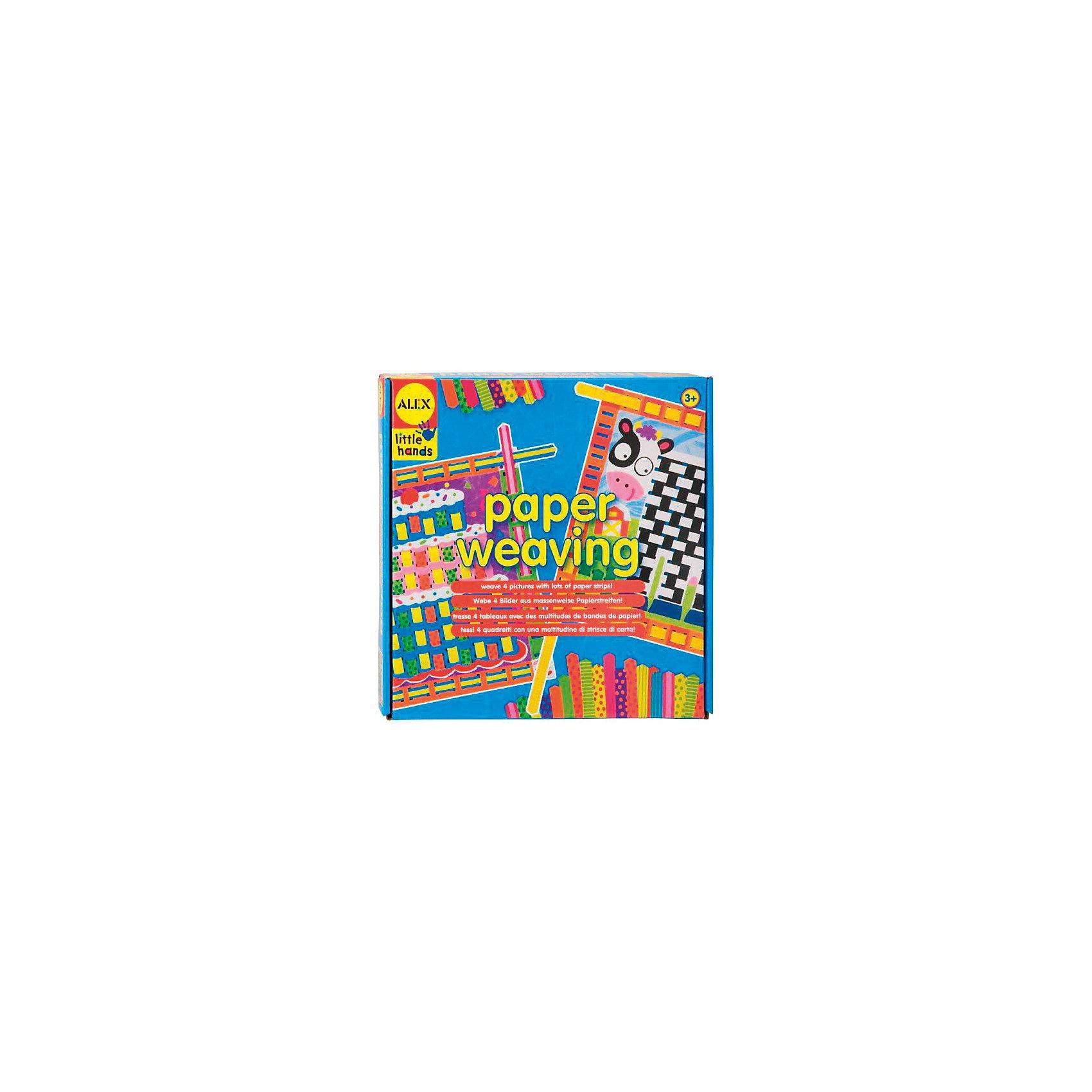 Узорное плетение из бумаги , ALEXРукоделие<br>Создайте 4 необычные плетеные картины. Все очень просто - проденьте цветные бумажные полосы через картину-заготовку. В наборе: 4 картины-заготовки с нанесенным на них ярким рисунком, много разноцветных полос из бумаги и простая инструкция. Для детей от 3х лет.<br><br>Ширина мм: 56<br>Глубина мм: 29<br>Высота мм: 35<br>Вес г: 272<br>Возраст от месяцев: 36<br>Возраст до месяцев: 1152<br>Пол: Унисекс<br>Возраст: Детский<br>SKU: 2148522