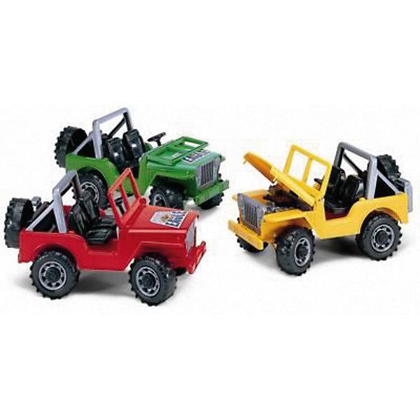 Bruder Джип Jeep, в ассортиментеМашинки<br>Bruder Джип JEEP от Bruder (Брудер) - это открытый внедорожник для юных любителей автомобильной техники. Модель выполнена с максимальной детализацией и обладает всем функционалом настоящей машины: лобовое стекло кабины опускается, капот открывается для доступа к двигателю, а руль вращается, управляя передними колесами. Сзади машины закреплены съемное запасное колесо и канистра для бензина. Большие пластиковые колеса обеспечивают джипу отличную проходимость. <br><br>Джип JEEP Bruder копия реальной техники в масштабе 1:16.<br><br>Размеры (д/ш/в): 27 х 18 х 14 см.<br><br>ВНИМАНИЕ! Данный артикул представлен в разных цветовых исполнениях. К сожалению, выбрать определенный цвет невозможно. При заказе нескольких моделей возможно получение одинаковых.<br><br>Ширина мм: 270<br>Глубина мм: 180<br>Высота мм: 140<br>Вес г: 500<br>Возраст от месяцев: 36<br>Возраст до месяцев: 84<br>Пол: Мужской<br>Возраст: Детский<br>SKU: 2148641