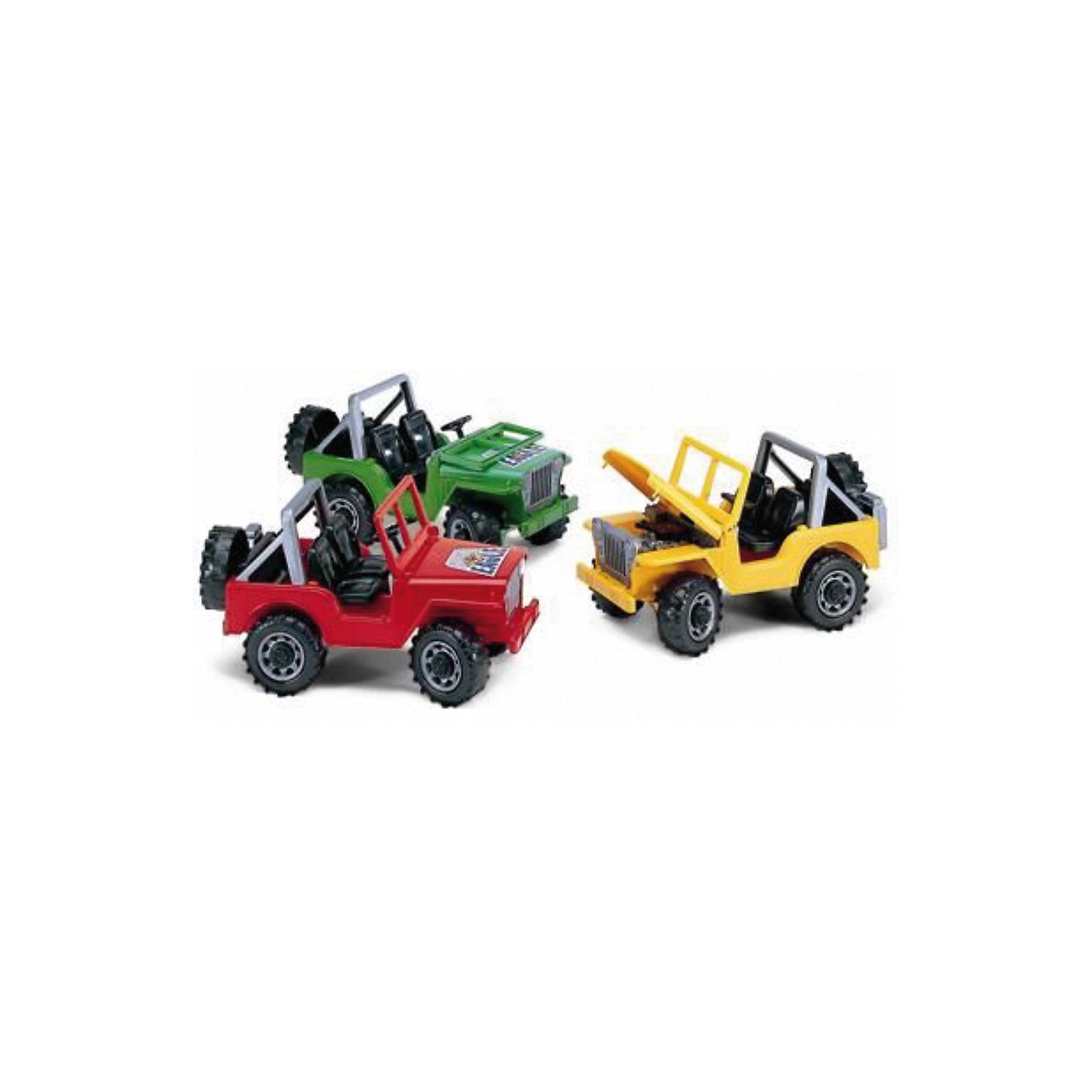 Bruder Джип Jeep, в ассортиментеBruder Джип JEEP от Bruder (Брудер) - это открытый внедорожник для юных любителей автомобильной техники. Модель выполнена с максимальной детализацией и обладает всем функционалом настоящей машины: лобовое стекло кабины опускается, капот открывается для доступа к двигателю, а руль вращается, управляя передними колесами. Сзади машины закреплены съемное запасное колесо и канистра для бензина. Большие пластиковые колеса обеспечивают джипу отличную проходимость. <br><br>Джип JEEP Bruder копия реальной техники в масштабе 1:16.<br><br>Размеры (д/ш/в): 27 х 18 х 14 см.<br><br>ВНИМАНИЕ! Данный артикул представлен в разных цветовых исполнениях. К сожалению, выбрать определенный цвет невозможно. При заказе нескольких моделей возможно получение одинаковых.<br><br>Ширина мм: 270<br>Глубина мм: 180<br>Высота мм: 140<br>Вес г: 500<br>Возраст от месяцев: 36<br>Возраст до месяцев: 84<br>Пол: Мужской<br>Возраст: Детский<br>SKU: 2148641