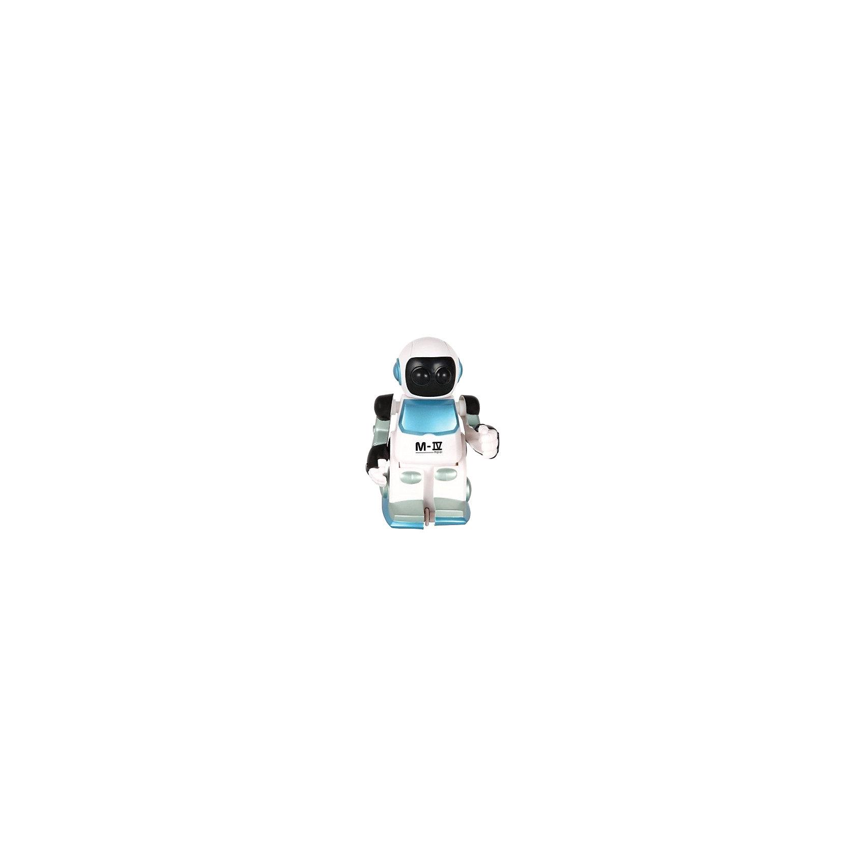Робот Moonwalker, SilverlitРоботы<br>Интеллектуальный робот-луноход Moomwalker от Silverlit.<br><br>При ходьбе на голове мелькает свет (под шлемом сверкают глаза), голова вертится, а руки качаются в такт ходьбе. Когда он переступает ногами, раздаётся характерный звук моторчика.<br><br>Робот идёт не по прямой, а знаменитой лунной походкой - из стороны в стороны, поворачиваясь и вращаясь. Если на своём пути он встречает препятствие, то разворачивается и идёт дальше.<br><br>Дополнительная информация:<br><br>- Материал: высококачественная пластмасса.<br>- Для работы необходимы 2 батарейки АА (в комплект не входят).<br>- Размер: 9,5 х 11 х 15,5 см.<br><br>Занимательный робот для любознательных детей!<br><br>Робота Moonwalker, Silverlit можно приобрести в нашем интернет-магазине.<br><br>Ширина мм: 160<br>Глубина мм: 110<br>Высота мм: 140<br>Вес г: 375<br>Возраст от месяцев: 36<br>Возраст до месяцев: 108<br>Пол: Мужской<br>Возраст: Детский<br>SKU: 2148667