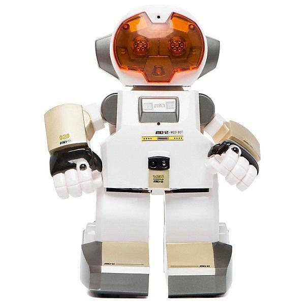 Silverlit Интеллектуальный робот ECHOРоботы<br>Этот робот отличается от похожих игрушек тем, что умеет записывать и воспроизводить голосовые сообщения. <br><br>Также робот распознаёт звуки: 1 хлопок – движение вперед, 2 –  поворот налево, 3 – поворот направо. <br><br>Если поставить два робота ECHO напротив друг друга на расстоянии не более 1 метра, они будут общаться между собой.<br><br>Робота можно обучить трюкам. Для этого необходимо лишь нажать кнопку на его макушке. 1 хлопок -первый трюк, 2-й хлопок - второй трюк. <br><br>Особенности:<br>? Интеллектуальный робот с функцией записи и воспроизведения голоса;<br>? Движения сопровождаются световыми и звуковыми эффектами;<br>? Инфракрасный датчик позволяет роботу обходить препятствия;<br>? Возможность общения с другими роботами.<br><br>Характеристики:<br>? Питание - 4 батарейки размера «ААА» (не входят в комплект).<br><br>Материал: пластмасса, с элементами из металла. <br><br>Размеры (д/ш/в): 21 х 28 х 15 см.<br><br>Ширина мм: 210<br>Глубина мм: 280<br>Высота мм: 150<br>Вес г: 867<br>Возраст от месяцев: 60<br>Возраст до месяцев: 1164<br>Пол: Мужской<br>Возраст: Детский<br>SKU: 2148672