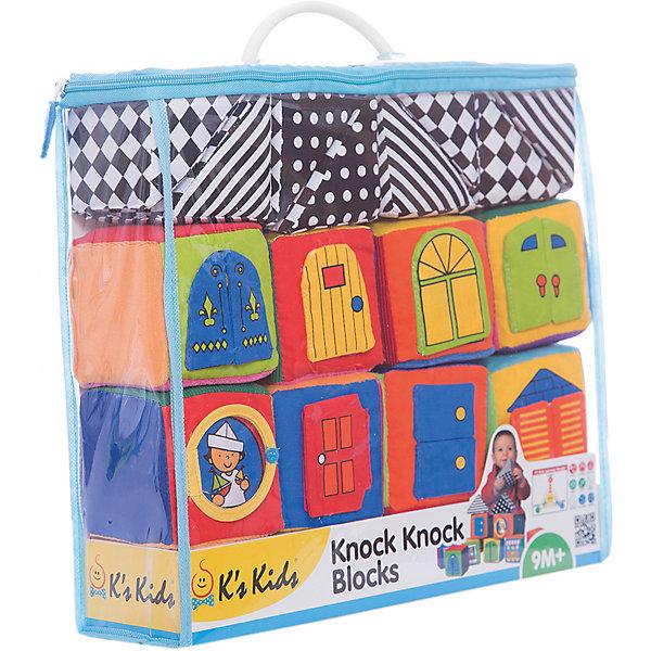 Ks Kids Мягкие кубики в коробкеРазвивающие игрушки<br>16 мягких развивающих кубиков для строительства и игры в удобном пластиковом чемоданчике для малышей от 6 месяцев. <br><br>Материал граней кубиков разнообразен по цвету и по своей фактуре (атлас, вельвет, бархат, гладкая ткань, есть шуршащие поверхности), что способствует развитию тактильных ощущений у детей. На каждом кубике имеются открывающиеся дверцы или окошки,- за ними прячутся будущие жильцы домика. 6 кубиков звонкие, они гремят как погремушки, причем с разным звучанием. <br>Игрушка рекомендована детскими психологами.<br><br>Дополнительная информация:<br><br>Материал: текстиль.<br><br>Размер упаковки (д/ш/в): 34 х 29 х 10 см.<br><br>Интересная развивающая игра для Вашего малыша!<br>Ширина мм: 340; Глубина мм: 290; Высота мм: 100; Вес г: 450; Возраст от месяцев: 6; Возраст до месяцев: 36; Пол: Унисекс; Возраст: Детский; SKU: 2148732;