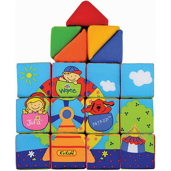 Ks Kids Кубики мягкие Учись, играяРазвивающие игрушки<br>Ks Kids Кубики мягкие Учись, играя – обязательно понравится вашему малышу!<br> <br>Набор состоит из 12-ти мягких кубиков и 5-ти мягких треугольников. Из них можно собрать, например, зоопарк, гараж и даже домик, где будут жить цифры.<br> <br>Игрушка помогает развить моторику рук, логическое мышление, фантазию и воображение.<br><br>Дополнительная информация:<br><br>- материал: хлопок, набивка синтетическое волокно<br>- размеры:<br>- размер игрушки: кубик 8х8х8 см.<br>- размер пирамидки: 10 см х 8 см х 5,5 см.<br><br>Ks Kids Кубики мягкие Учись, играя – можно купить в нашем интернет - магазине.<br>Ширина мм: 290; Глубина мм: 240; Высота мм: 210; Вес г: 580; Возраст от месяцев: 9; Возраст до месяцев: 36; Пол: Унисекс; Возраст: Детский; SKU: 2148733;