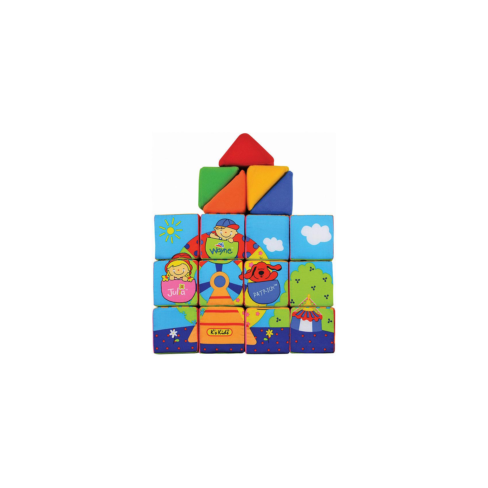 Ks Kids Кубики мягкие Учись, играяKs Kids Кубики мягкие Учись, играя – обязательно понравится вашему малышу!<br> <br>Набор состоит из 12-ти мягких кубиков и 5-ти мягких треугольников. Из них можно собрать, например, зоопарк, гараж и даже домик, где будут жить цифры.<br> <br>Игрушка помогает развить моторику рук, логическое мышление, фантазию и воображение.<br><br>Дополнительная информация:<br><br>- материал: хлопок, набивка синтетическое волокно<br>- размеры:<br>- размер игрушки: кубик 8х8х8 см.<br>- размер пирамидки: 10 см х 8 см х 5,5 см.<br><br>Ks Kids Кубики мягкие Учись, играя – можно купить в нашем интернет - магазине.<br><br>Ширина мм: 290<br>Глубина мм: 240<br>Высота мм: 210<br>Вес г: 580<br>Возраст от месяцев: 9<br>Возраст до месяцев: 36<br>Пол: Унисекс<br>Возраст: Детский<br>SKU: 2148733