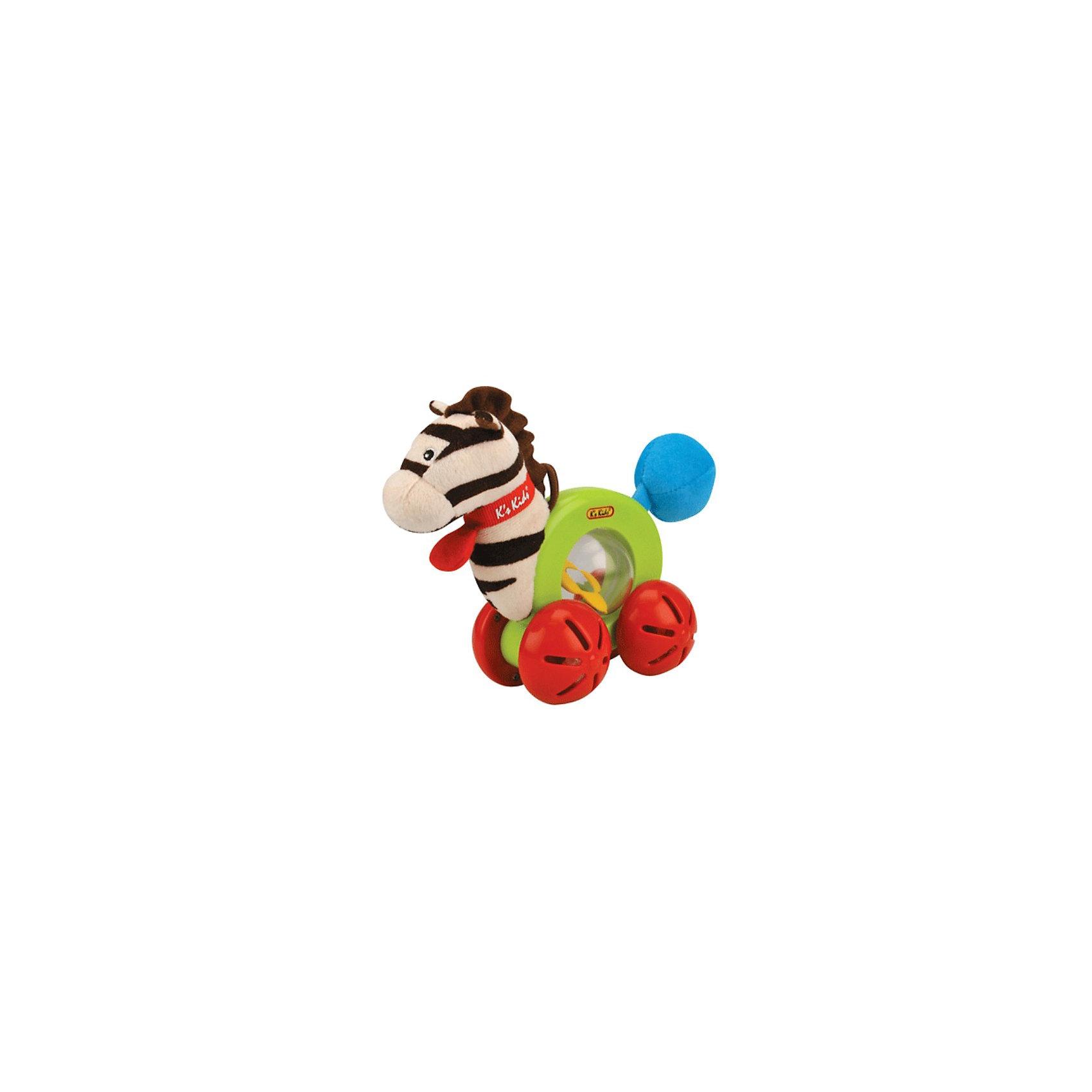 Ks Kids Развивающая игрушка Райн на роликахРазвивающая игрушка Райн на роликах со звуком для самых маленьких.<br><br>Зебра Райн побуждает малыша ползать и ходить. Благодаря ножкам-роликам игрушка может быстро ехать, при этом привлекая внимание малыша подвижными шариками. Прозрачные шарики находятся в ножках-роликах, а разноцветные в прозрачном шаре-животике зебры, соседствуя с маленьким зеркалом в форме цветочка. В «хвостике» Райна находится пищалка.<br><br>Маленькая петелька, находящаяся на голове зебры, позволяет подвесить игрушку на развивающие коврик или дугу.<br><br>Дополнительная информация:<br><br>- материал: текстиль, пластик<br>- размер игрушки: 7 х 19 х 15,5 см.<br>- вес: 290гр.<br><br>Аспекты развития: развивает крупную моторику, визуальное восприятие, координацию движений, стимулирует к активным действиям.<br><br>Добродушная зебра Райн очень понравится Вашему малышу!<br><br>Развивающую игрушку Райн на роликах от Ks Kids можно купить в нашем магазине.<br><br>Ширина мм: 200<br>Глубина мм: 240<br>Высота мм: 90<br>Вес г: 150<br>Возраст от месяцев: 6<br>Возраст до месяцев: 36<br>Пол: Унисекс<br>Возраст: Детский<br>SKU: 2148740