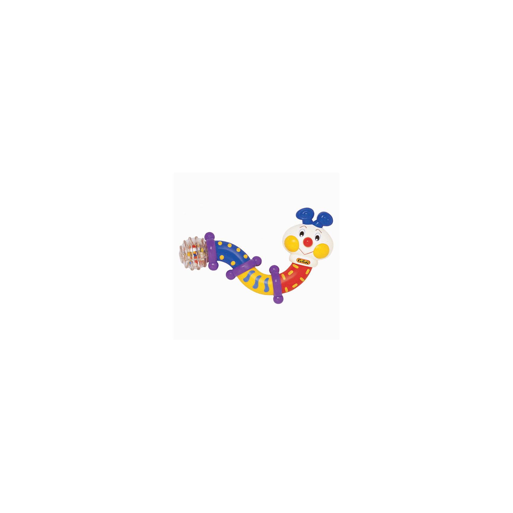 Ks Kids Развивающая игрушка Гусеница Смешная гусеничка трещит и приобретает любую форму в руках у малыша. У нее вертятся и трещат головка, разноцветные сегменты туловища и прозрачный хвостик с разноцветными шариками внутри. Игрушка вызывает положительные эмоции у детей и веселый смех.<br><br>Дополнительная информация:<br><br>- материал: пластмасса с небольшими резиновыми вставками для массажа пальчиков у детей.<br>- размеры: 13.5 х 14 х 6 см.<br>- вес 125 гр. <br><br>Развивающую игрушку Гусеница  от Ks Kids можно купить в нашем интернет-магазине.<br><br>Ширина мм: 50<br>Глубина мм: 50<br>Высота мм: 250<br>Вес г: 120<br>Возраст от месяцев: 6<br>Возраст до месяцев: 36<br>Пол: Унисекс<br>Возраст: Детский<br>SKU: 2148751