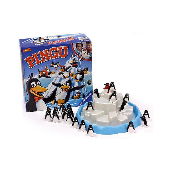 Настольная игра Пингвины на льдине, RavensburgerНастольные игры для всей семьи<br>Колония пингвинов собралась на айсберге, чтобы понежиться на солнышке. Однако места на льдине так мало, что какой-нибудь из пингвинчиков непременно норовит упасть в воду! Настольная игра Пингвины на льдине от Ravensburger даст Вашему ребенку почувствовать себя в роли настоящего переворачивателя пингвинов!<br><br>Цель игры - поместить пингвинов на айсберг одного за другим, при этом не столкнув с айсберга остальных соседей.<br><br>Правила: <br>• Пингвины делятся между игроками поровну;<br>• За ход можно попробовать поставить только одну птичку;<br>• Если пингвин стоит ровно и не качается, можно передавать ход следующему игроку;<br>• Если пингвин упал или если из-за него упали другие пингвины, нужно аккуратно подобрать их всех и взять к себе в колонию, ожидая следующего хода. <br><br>Игра заканчивается в тот момент, когда пингвины в колонии кончаются, а на айсберге образуется достаточно плотная толпа желающих согреться.<br><br>Игра развивает мелкую моторику рук, координацию движения, ловкость.<br><br>Дополнительная информация:<br><br>В наборе: айсберг, подставка для него, 24 пингвина<br>Размер игрушки: 11,4 х 26,5 х 26,5 см.<br>Количество игроков: 1-6.<br><br>Ширина мм: 114<br>Глубина мм: 265<br>Высота мм: 265<br>Вес г: 803<br>Возраст от месяцев: 60<br>Возраст до месяцев: 1164<br>Пол: Унисекс<br>Возраст: Детский<br>SKU: 2148758