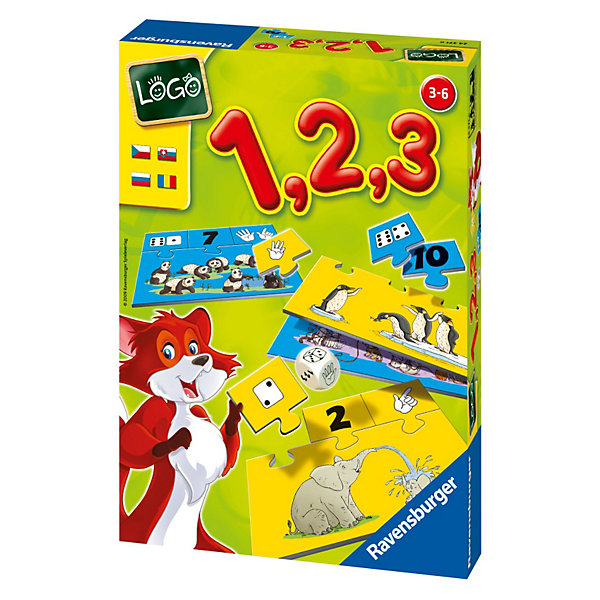 Обучающая игра Учимся считать RavensburgerПособия для обучения счёту<br>Обучающая игра « Учимся считать» от Ravensburger превратит нелегкий процесс обучения в увлекательное занятие! В процессе игры дети научаться считать от 1 до 10.<br><br>На карточках числа представлены несколькими способами: с помощью цифр, очков на кубике или пальцев. На больших карточках изображены различные животные. Задача - правильно сосчитать количество животных на картинке и присоединить к ней по принципу пазла маленькие элементы с обозначением чисел. Карточки с обозначением количества подходят только к своей картинке и точно вставляются на свои места. Тот, кто первым справился с заданием, становится победителем.<br><br>Детали игры изготовлены из плотного картона и не погнутся при пользовании. Ваш малыш сможет снова и снова подбирать числа к картинкам!<br><br>Обучение с товарами от немецкого бренда Ravensburger скучным не бывает!<br><br><br>В наборе:<br>- 10 карточек-картинок с определенным количеством предметов;<br>- 10 карточек со стороной игрального кубика - очки;<br>- 10 карточек с пальчиками;<br>- 10 карточек с цифрами;<br>- игральный кубик с символами – очки, пальцы и цифры;<br>- инструкция на русском языке.<br><br>Дополнительная информация:<br><br>- Материал: плотный картон<br>- Размер игрушки: сложенная карточка 16х12 см<br>- Размер упаковки 27х19х5 см<br><br>Ширина мм: 170<br>Глубина мм: 60<br>Высота мм: 230<br>Вес г: 213<br>Возраст от месяцев: 36<br>Возраст до месяцев: 72<br>Пол: Унисекс<br>Возраст: Детский<br>SKU: 2148766