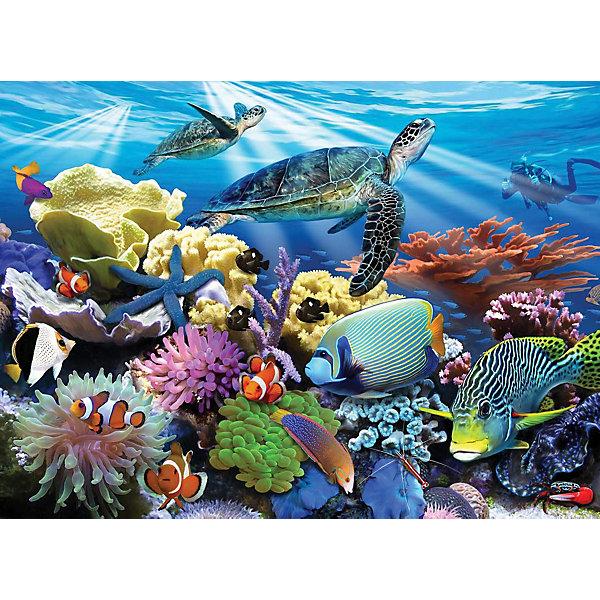 Ravensburger Пазл Морские черепахи, 200 деталейПазлы до 200 деталей<br>Красочный пазл от Ravensburger состоит из 200 деталей.<br><br>Мотив пазла - морские черепахи, кораллы и яркие рыбки - обязательно придется ценителям подводного мира.<br> <br>Склеивается собранный паззл по лицевой стороне клеем фирмы Ravensburger.<br><br>Дополнительная информация:<br><br>Возраст: от 6 лет<br><br>Количество деталей: 200 шт.<br><br>Материал: плотный картон<br><br>Размер картинки в собранном виде 49 * 36 см.<br><br>Собирание пазлов - не только увлекательное, но и полезное занятие, которое развивает логическое мышление, память, усидчивость и творческие способности.<br>Ширина мм: 340; Глубина мм: 40; Высота мм: 230; Вес г: 539; Возраст от месяцев: 60; Возраст до месяцев: 1188; Пол: Унисекс; Возраст: Детский; Количество деталей: 200; SKU: 2148798;
