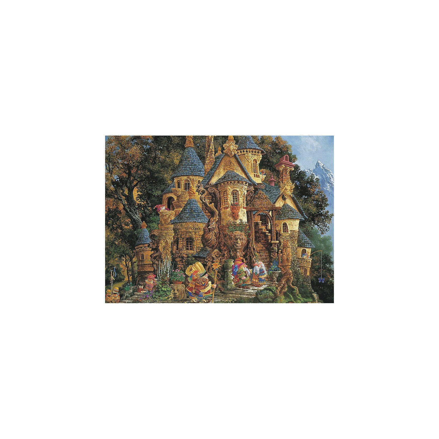Пазл «Школа волшебства» 500 деталей, RavensburgerКлассические пазлы<br>Пазл «Школа волшебства» 500 деталей, Ravensburger (Равенсбургер) – этот яркий красочный пазл великолепный подарок для вашего ребенка.<br>Пазл «Школа волшебства» от немецкой фирмы Ravensburger (Равенсбургер) - это очень необычный сказочный пазл. Домик-замок, сказочные герои, лес, горы – все это не оставит равнодушными и детей, и взрослых любителей чудес. Собирая картинку, ребенок развивает логическое мышление, воображение, мелкую моторику и умение принимать самостоятельные решения. Пазлы Ravensburger неповторимы и уникальны тем, что для их изготовления используется картон наивысшего класса, благодаря которому сложенные головоломки не сгибаются, сам картон не отделяется от картинки, а сложенная картинка представляется абсолютно плоской и не деформируется даже спустя время. Прочные детали не ломаются. Каждая деталь имеет свою форму и подходит только на своё место. Матовая поверхность исключает неприятные отблески. Изготовлено из экологического сырья.<br><br>Дополнительная информация:<br><br>- Количество деталей: 500<br>- Размер картинки: 36 х 49 см.<br>- Материал: картон<br>- Размер коробки: 34 x 4 х 23 см.<br><br>Пазл «Школа волшебства» 500 деталей, Ravensburger (Равенсбургер) можно купить в нашем интернет-магазине.<br><br>Ширина мм: 340<br>Глубина мм: 40<br>Высота мм: 230<br>Вес г: 547<br>Возраст от месяцев: 60<br>Возраст до месяцев: 1188<br>Пол: Женский<br>Возраст: Детский<br>Количество деталей: 500<br>SKU: 2148812