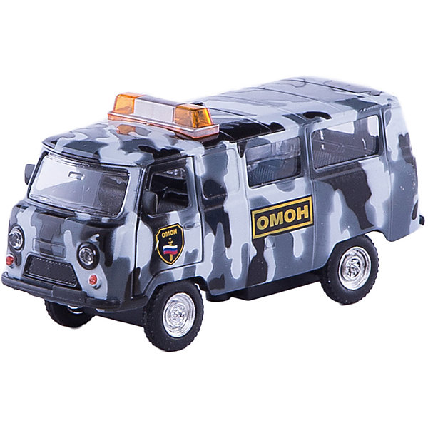 ТЕХНОПАРК Машина ОМОНМашинки<br>Характеристики:<br><br>• тип игрушки: машина;<br>• возраст: от 3 лет;<br>• размер: 8х18х14 см;<br>• цвет: черный, серый;<br>• материал: пластик, металл;<br>• бренд: Технопарк;<br>• страна производителя: Китай.<br><br>Машинка Технопарк «ОМОН»  принадлежит подразделению ОМОН.  Камуфляжный корпус придает машинке более мужественный и серьезный вид, а на крыше установлена мигалка, поэтому автобус сможет быстро домчаться до места проведения операции. У игрушки открываются двери, что дает возможность разместить в салоне водителя и пассажиров. Машинка оснащена инерционным механизмом, который позволяет ей проехать самостоятельно небольшое расстояние, для этого нужно только оттянуть автобус назад и отпустить.  <br><br>Машинку Технопарк «ОМОН»  можно купить в нашем интернет-магазине.<br>Ширина мм: 60; Глубина мм: 180; Высота мм: 140; Вес г: 220; Возраст от месяцев: 36; Возраст до месяцев: 120; Пол: Мужской; Возраст: Детский; SKU: 2149013;