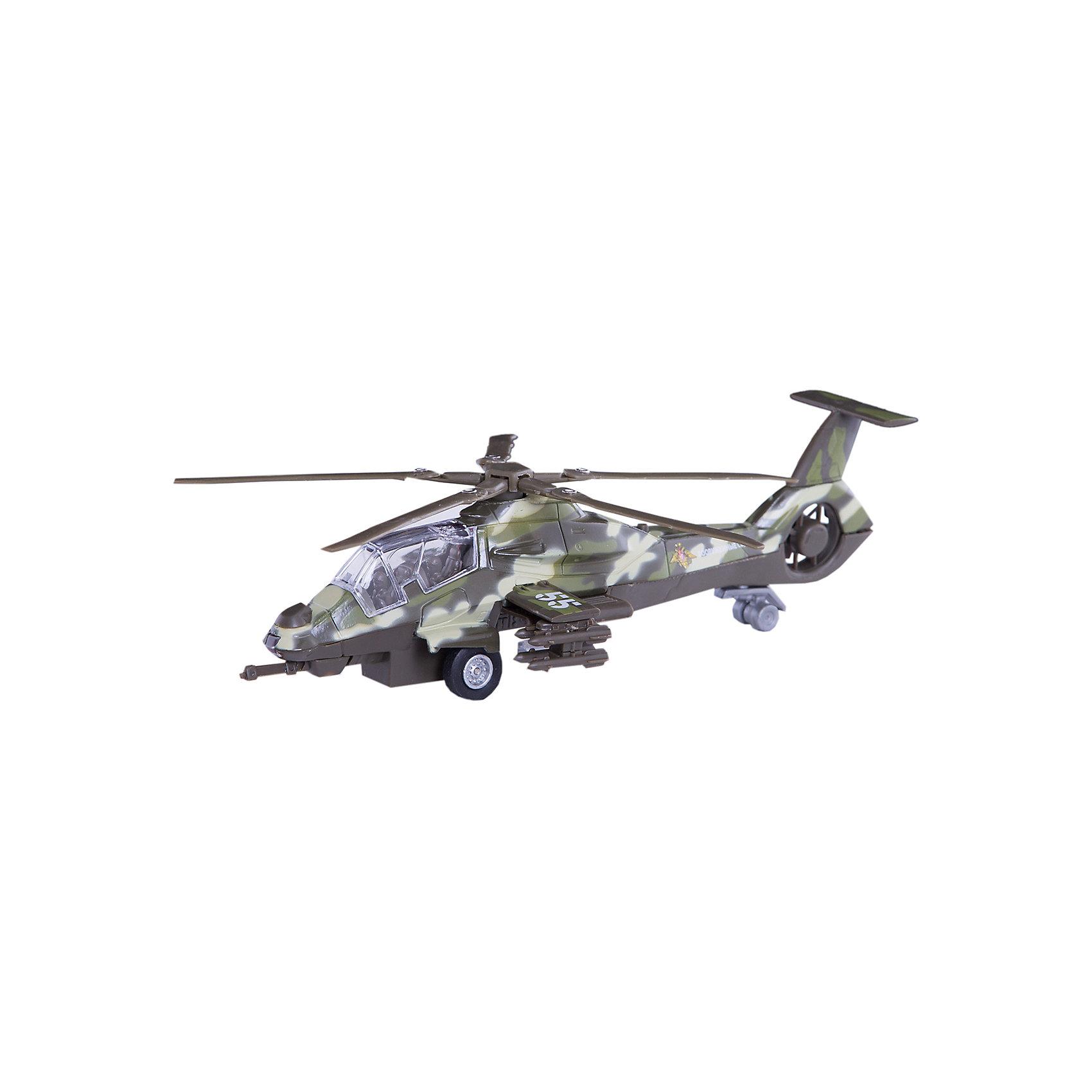 ТЕХНОПАРК ТЕХНОПАРК Военный вертолёт технопарк пожарная машина со светом и звуком технопарк