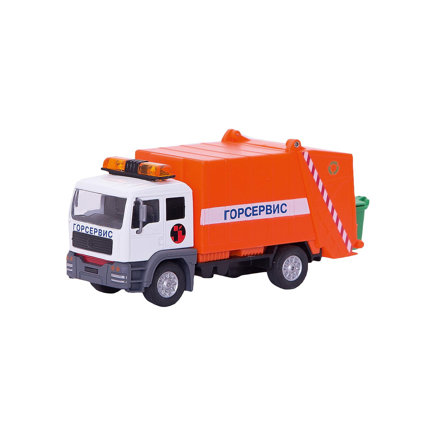 ТЕХНОПАРК ТЕХНОПАРК Мусоровоз машинки технопарк грузовик технопарк металлический инерционный 12 см