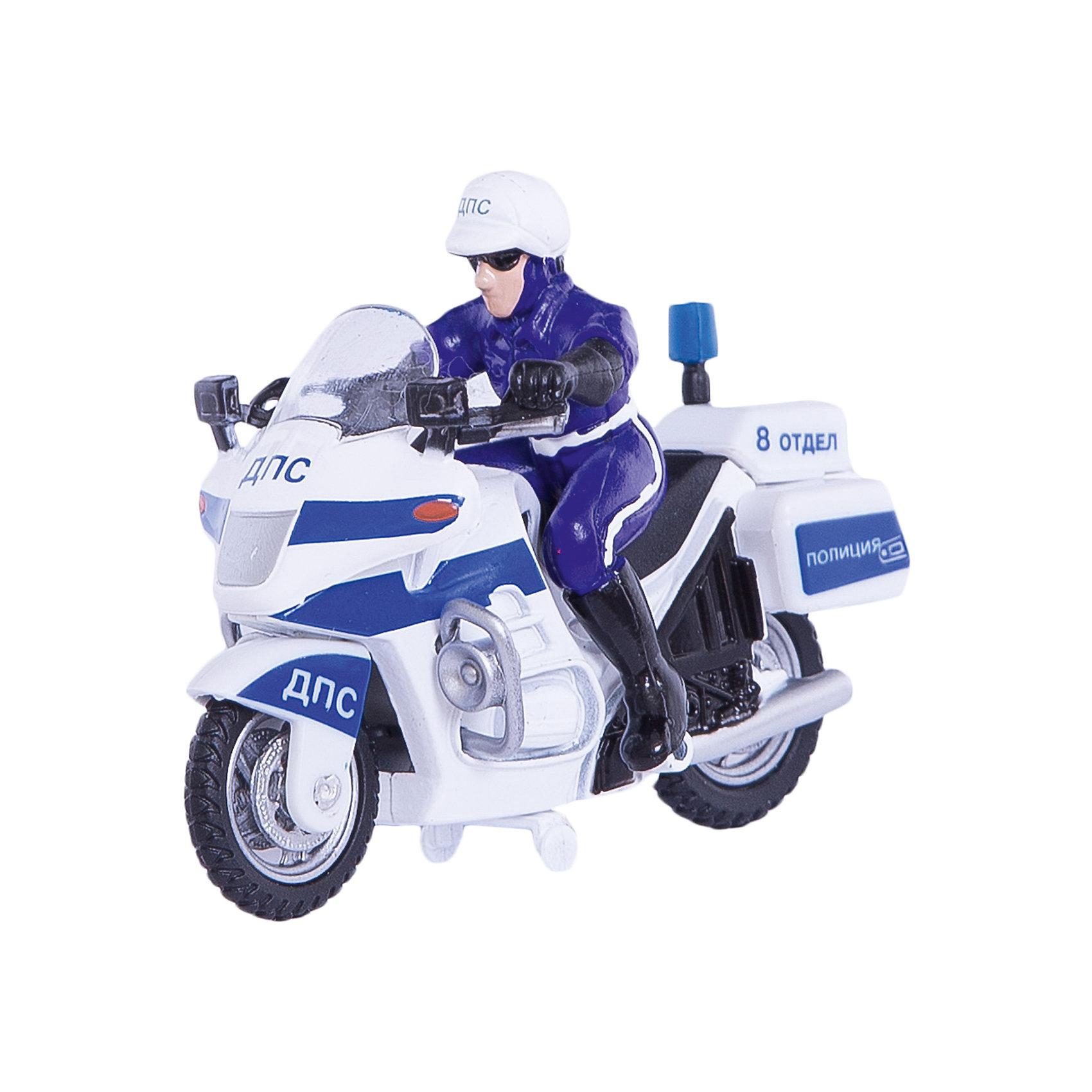 ТЕХНОПАРК Металлический мотоциклКоллекционная модель Технопарк. <br><br>Игрушка - мотоцикл дорожно-патрульной службы с инспектором в форме сотрудника ДПС. Фигурка полицейского снимается.<br>Игрушка мотоцикл окрашен в белый цвет с синими полосами и надписями ДПС. <br><br>Мотоцикл имеет инерционный привод, резиновые шины снимаются с колес. <br><br>Изготовлен из химически стойких и экологически безопасных материалов. <br><br>Дополнительная информация:<br><br>Цвета: синий и белый. <br><br>Материал: металл с элементами пластика.<br><br>Размер мотоцикла: около 11 см.<br><br>Размеры упаковки: 17 х 15 х 5 см.<br><br>Вес: 170 г.<br><br>Мотоцикл порадует всех любителей дорожных приключений!<br><br>Ширина мм: 50<br>Глубина мм: 170<br>Высота мм: 150<br>Вес г: 170<br>Возраст от месяцев: 36<br>Возраст до месяцев: 120<br>Пол: Мужской<br>Возраст: Детский<br>SKU: 2149092