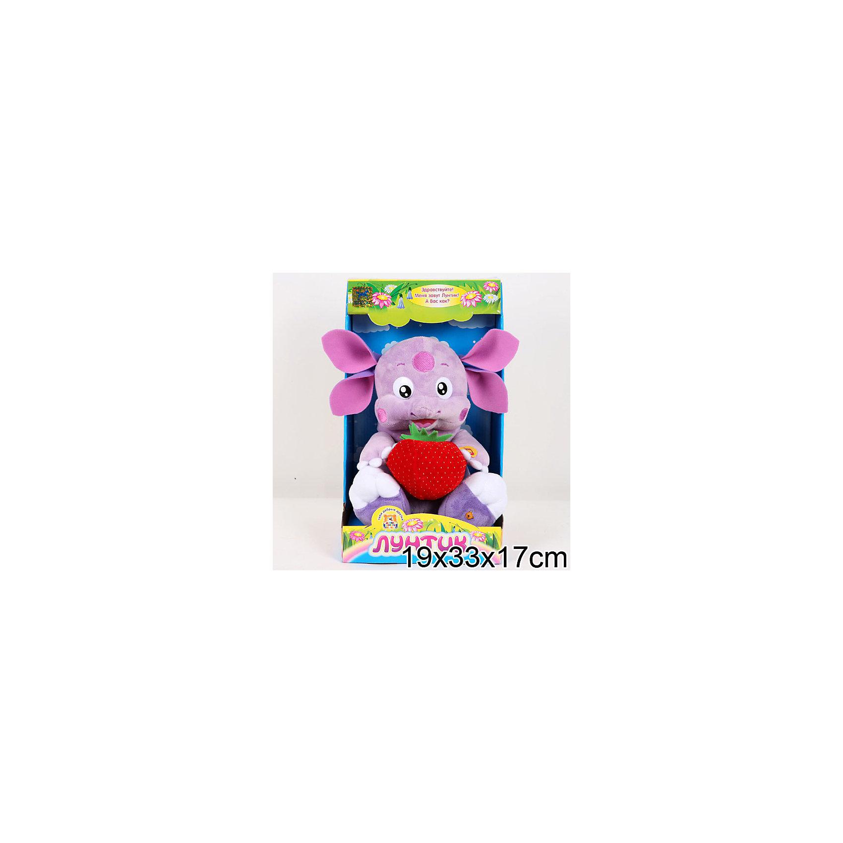 Мягкая игрушка Лунтик с клубничкой, 24 см, МУЛЬТИ-ПУЛЬТИ