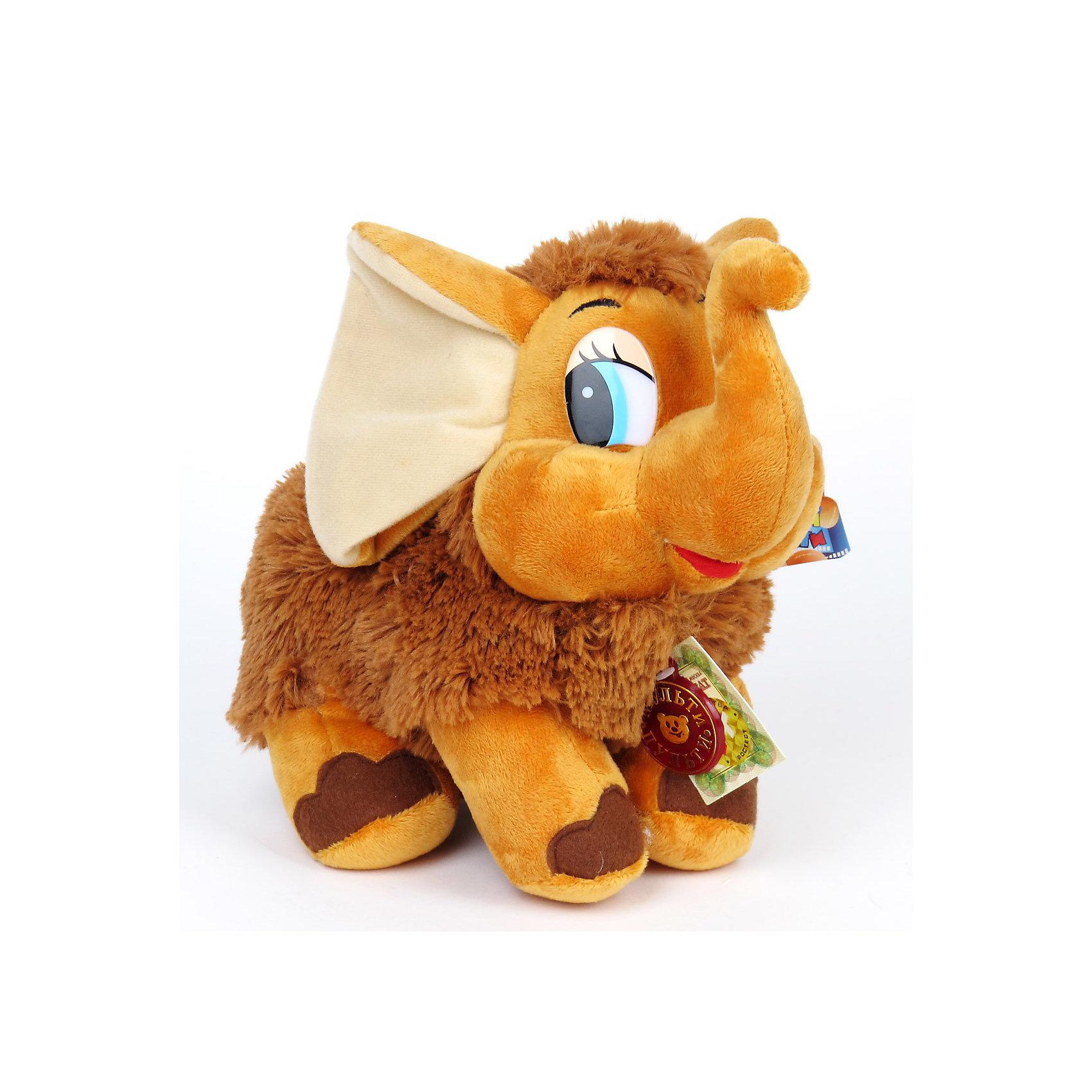 МУЛЬТИ-ПУЛЬТИ Мягкая игрушка Мамонтёнок, 25 см, МУЛЬТИ-ПУЛЬТИ мульти пульти мягкая игрушка мамонтёнок 25 см мульти пульти