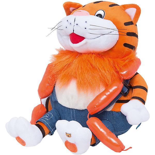 Мягкая игрушка Кот с сосисками, 25 см, МУЛЬТИ-ПУЛЬТИМягкие игрушки из мультфильмов<br>Бренд Мульти-Пульти представляет мягкие игрушки - персонажей любимых мультфильмов и сказок. Толстый рыжий кот из мультфильма Возвращение блудного попугая, хорошо известный всем детям, представлен со связкой своих любимых сосисок. Мягкая, приятная на ощупь игрушка порадует и развеселит Вашего ребенка. Можно вспомнить и разыграть сценки из любимого мультика, игрушка озвучена, если нажать на кота он будет произносить знакомые фразы из мультфильма.<br><br>Дополнительная информация:<br><br>- Материал: плюш, синтепон.<br>- Требуются батарейки: 3*LR44 (входят в комплект).<br>- Размер: 25 см.<br>- Вес: 0,25 кг.<br><br>Мягкую игрушку Кот с сосисками (Возвращение блудного попугая) от Мульти-Пульти можно купить в нашем магазине.<br><br>Ширина мм: 200<br>Глубина мм: 190<br>Высота мм: 280<br>Вес г: 330<br>Возраст от месяцев: 36<br>Возраст до месяцев: 72<br>Пол: Унисекс<br>Возраст: Детский<br>SKU: 2149148