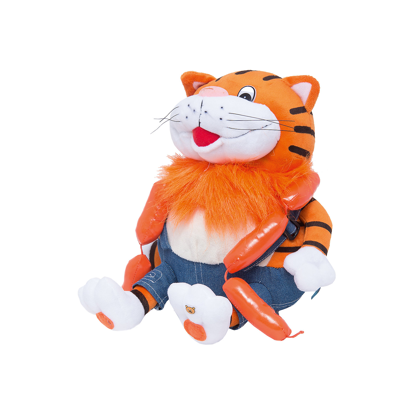 МУЛЬТИ-ПУЛЬТИ Мягкая игрушка Кот с сосисками, 25 см, МУЛЬТИ-ПУЛЬТИ мульти пульти мягкая игрушка серый мышонок 23 см со звуком кот леопольд мульти пульти