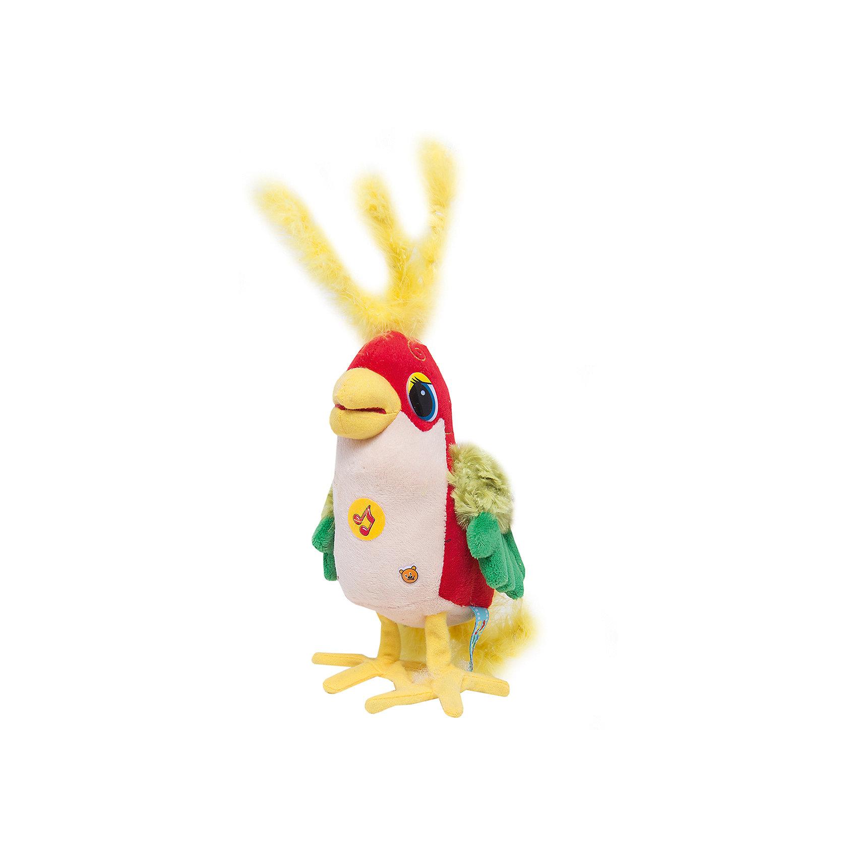 Мягкая игрушка Попугай, 20 см, 38 попугаев, МУЛЬТИ-ПУЛЬТИЛюбимые герои<br>Мягкая игрушка Попугай от Мульти-Пульти порадует и повеселит Вашего ребенка. Забавный попугай из мультфильма 38 попугаев очень важный и постоянно всех поучает. Нажав на игрушку, малыш услышит фразы и песенку из любимого мультфильма.<br><br>Дополнительная информация:<br><br>- Материал: текстиль.<br>- Требуются батарейки: 3xLR44 (входят в комплект).<br>- Размер: 20 см.<br>- Размер упаковки: 12 х 20 х 10 см.<br>- Вес: 0,145 кг.<br><br>Мягкую игрушку Попугай из мультфильма 38 попугаевот Мульти-Пульти можно купить в нашем магазине.<br><br>Ширина мм: 90<br>Глубина мм: 120<br>Высота мм: 200<br>Вес г: 210<br>Возраст от месяцев: 12<br>Возраст до месяцев: 72<br>Пол: Унисекс<br>Возраст: Детский<br>SKU: 2149156