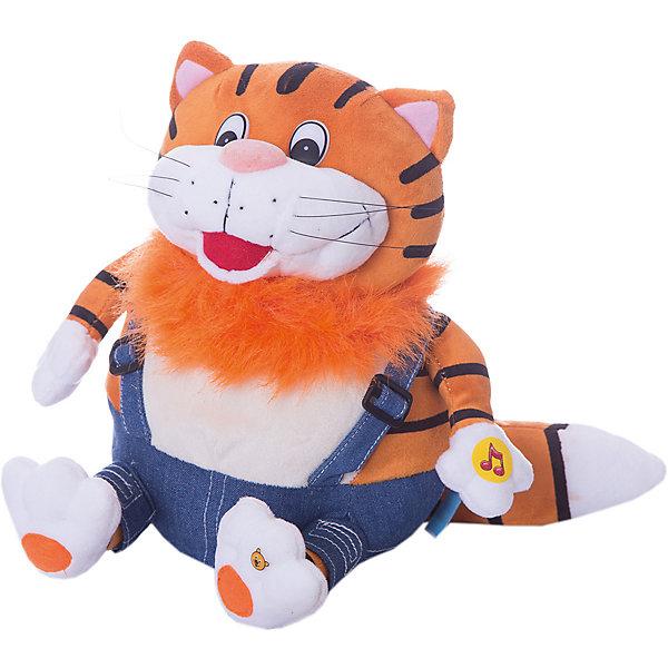 Мягкая игрушка Кот, 25 см, со звуком, Возвращение Блудного Попугая, МУЛЬТИ-ПУЛЬТИМягкие игрушки из мультфильмов<br>Бренд Мульти-Пульти представляет мягкие игрушки - персонажей любимых мультфильмов и сказок. Толстый рыжий кот из мультфильма Возвращение блудного попугая хорошо известен всем детям. Мягкая, приятная на ощупь игрушка порадует и развеселит Вашего ребенка. Можно вспомнить и разыграть сценки из любимого мультика, игрушка озвучена, если нажать коту на лапку он будет произносить знакомые фразы из мультфильма (9 фраз).<br><br>Дополнительная информация:<br><br>- Материал: текстиль, пластмасса, набивка - гипоаллергенный синтепон, пластмассовые гранулы.<br>- Требуются батарейки: 3*1,5V (есть в комплекте).<br>- Размер игрушки: 25см.<br>- Размер: 26 x 25 x 27 см.<br>- Вес: 0,325 кг.<br><br>Купить мягкую игрушку Кота из мультфильма Возвращение блудного попугая можно в нашем магазине.<br>Ширина мм: 160; Глубина мм: 250; Высота мм: 300; Вес г: 330; Возраст от месяцев: 12; Возраст до месяцев: 72; Пол: Унисекс; Возраст: Детский; SKU: 2149160;