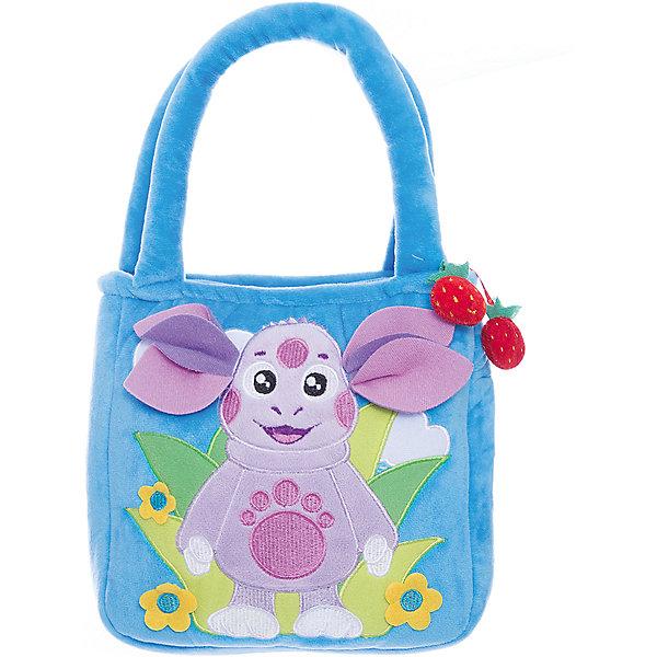 Синяя сумочка Лунтик, 24 см, МУЛЬТИ-ПУЛЬТИМягкие игрушки из мультфильмов<br>Сумочка из мягкого материала Лунтик от МУЛЬТИ-ПУЛЬТИ.<br><br>Девочки любят носить с собой свои игрушки, ведь так они становятся похожи на маму или бабушку, которые всегда носят с собой сумочки. В эту удобную сумку поместятся любимые игрушки, которые Ваша дочь сможет взять с собой на прогулку или в детский садик. А весёлый Лунтик - любимец детей - сделает эту сумочку самой любимой. <br><br>Главное отделение сумки закрывается на молнию, удобные ручки.<br><br>Дополнительная информация:<br><br>Размер: 24 см.<br>Материал: плюш, текстиль, пластик.<br>Ширина мм: 40; Глубина мм: 230; Высота мм: 340; Вес г: 210; Возраст от месяцев: 12; Возраст до месяцев: 72; Пол: Женский; Возраст: Детский; SKU: 2149164;