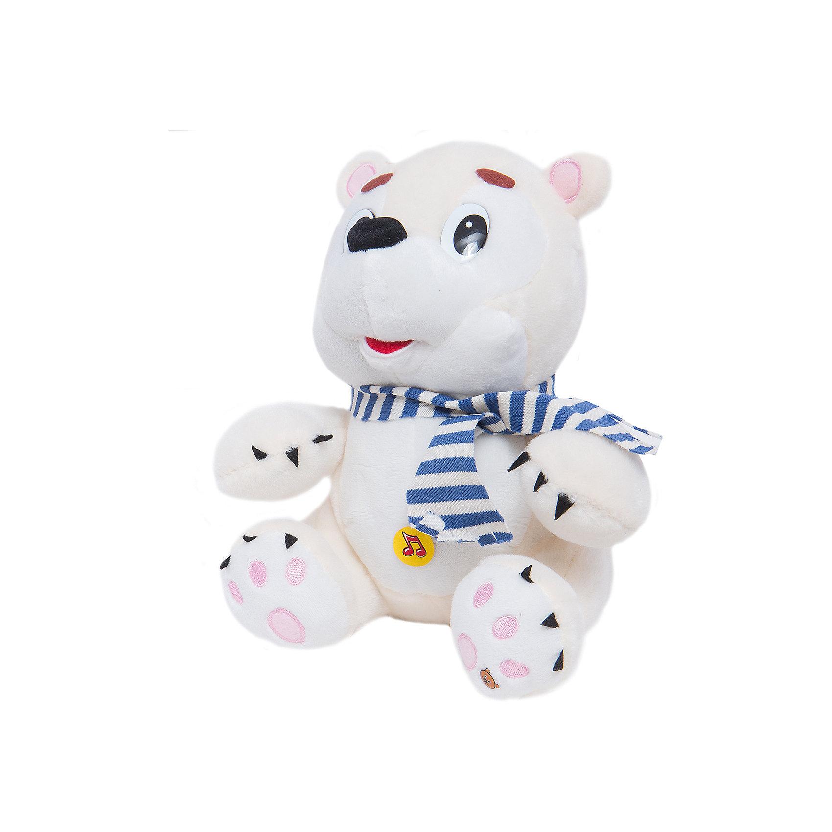 МУЛЬТИ-ПУЛЬТИ Мягкая игрушка Медведь Умка, 25 см, МУЛЬТИ-ПУЛЬТИ мульти пульти мягкая игрушка маша 30 см со звуком маша и медведь мульти пульти
