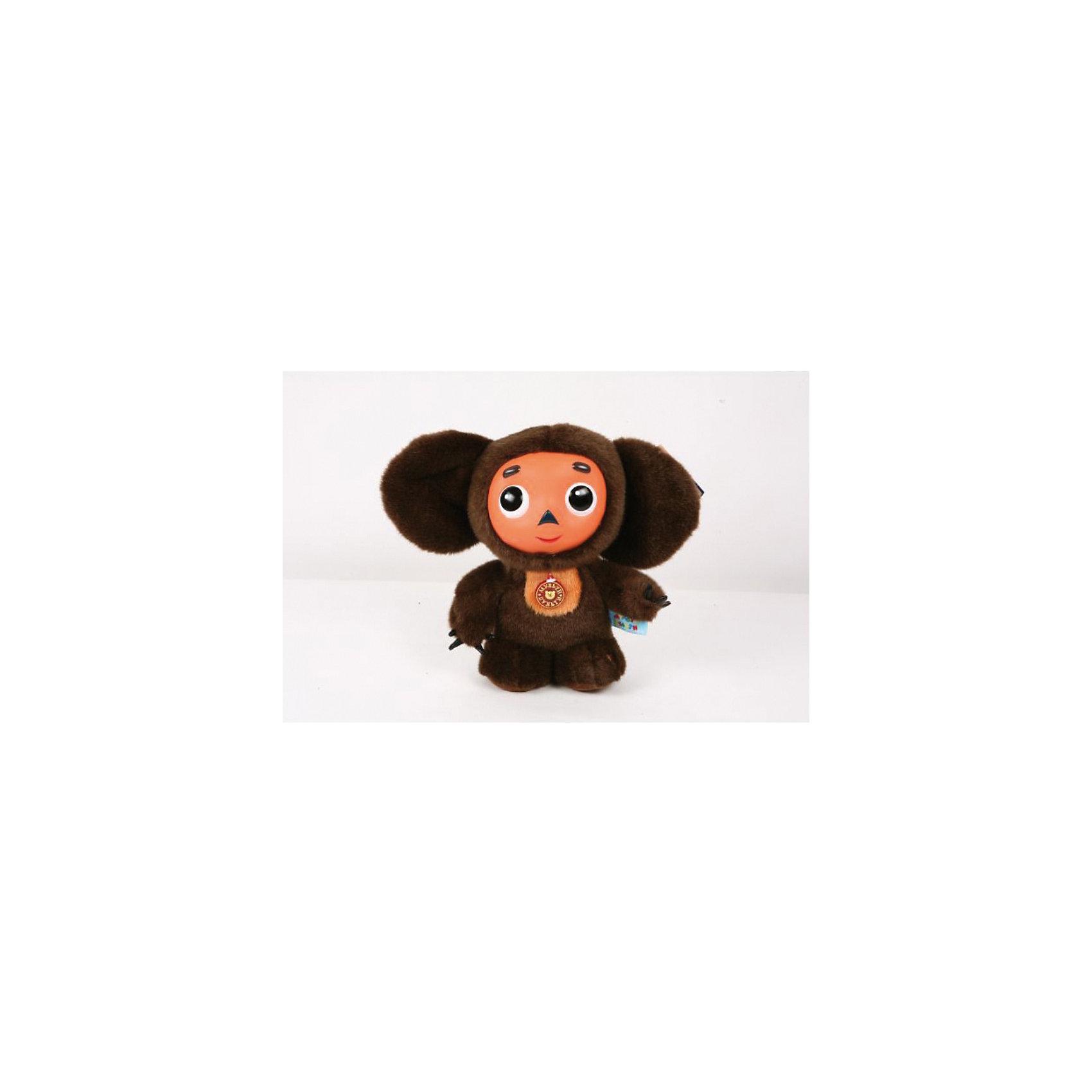 Мягкая игрушка Чебурашка , 25 см, со звуком, МУЛЬТИ-ПУЛЬТИМягкая игрушка  Чебурашка со звуком от марки МУЛЬТИ-ПУЛЬТИ<br><br>Мягкая озвученная игрушка от отечественного производителя сделана в виде известного персонажа из мультфильма. Она поможет ребенку проводить время весело и с пользой. В игрушке есть встроенный звуковой модуль, который  позволяет Чебурашке говорить фразы и пет песни.<br>Размер игрушки универсален - 25 сантиметров, её удобно брать с собой в поездки и на прогулку. Сделан Чебурашка из качественных и безопасных для ребенка материалов, которые еще и приятны на ощупь. <br><br>Отличительные особенности  игрушки:<br><br>- материал: текстиль, пластик;<br>- звуковой модуль;<br>- язык: русский;<br>- 9 фраз и 2 песни;<br>- работает на батарейках;<br>- высота: 25 см.<br><br>Мягкую игрушку  Чебурашка от марки МУЛЬТИ-ПУЛЬТИ можно купить в нашем магазине.<br><br>Ширина мм: 90<br>Глубина мм: 330<br>Высота мм: 380<br>Вес г: 210<br>Возраст от месяцев: 12<br>Возраст до месяцев: 72<br>Пол: Унисекс<br>Возраст: Детский<br>SKU: 2149182